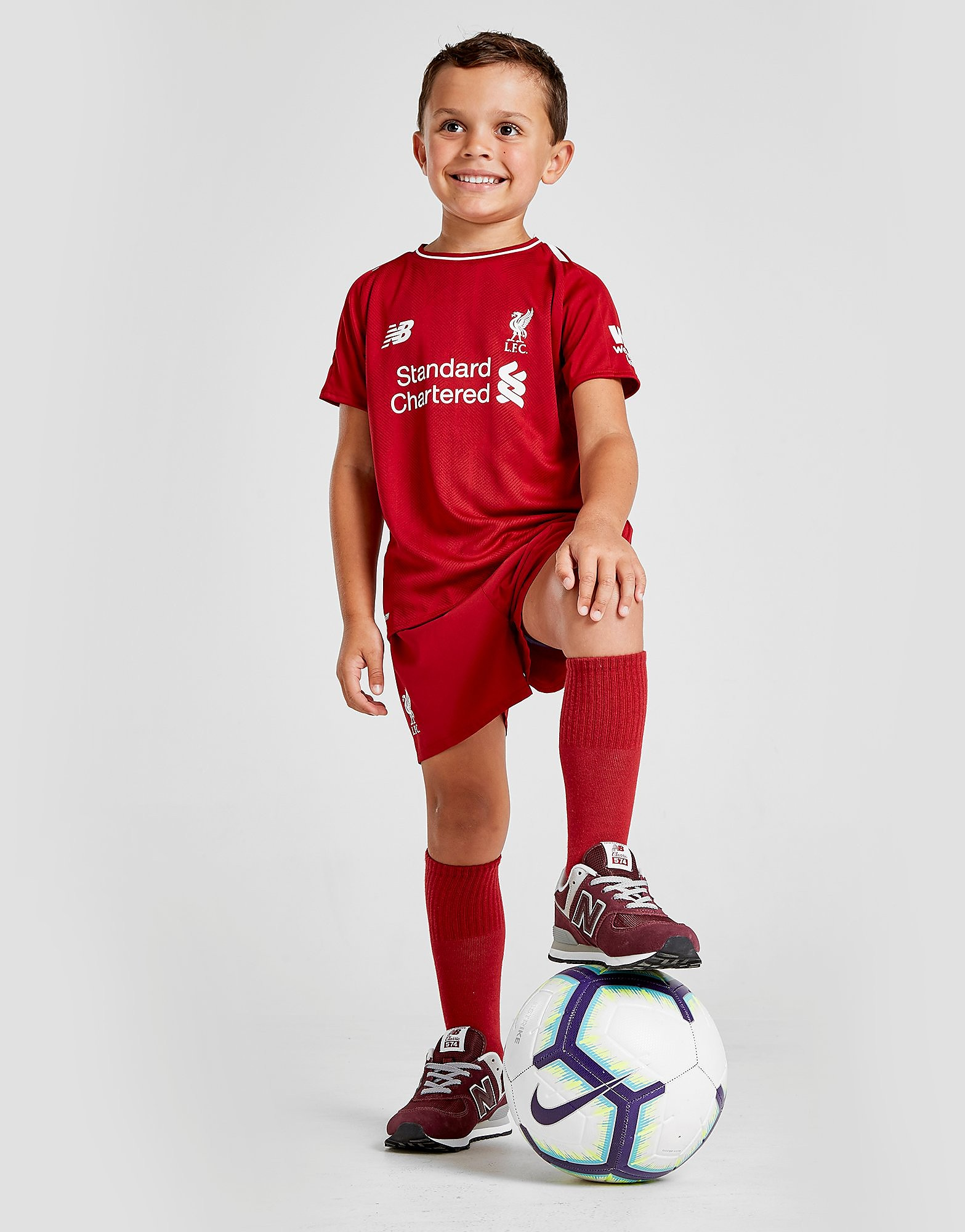 New Balance Liverpool FC 2018 Home Kit Children FORUDBESTIL