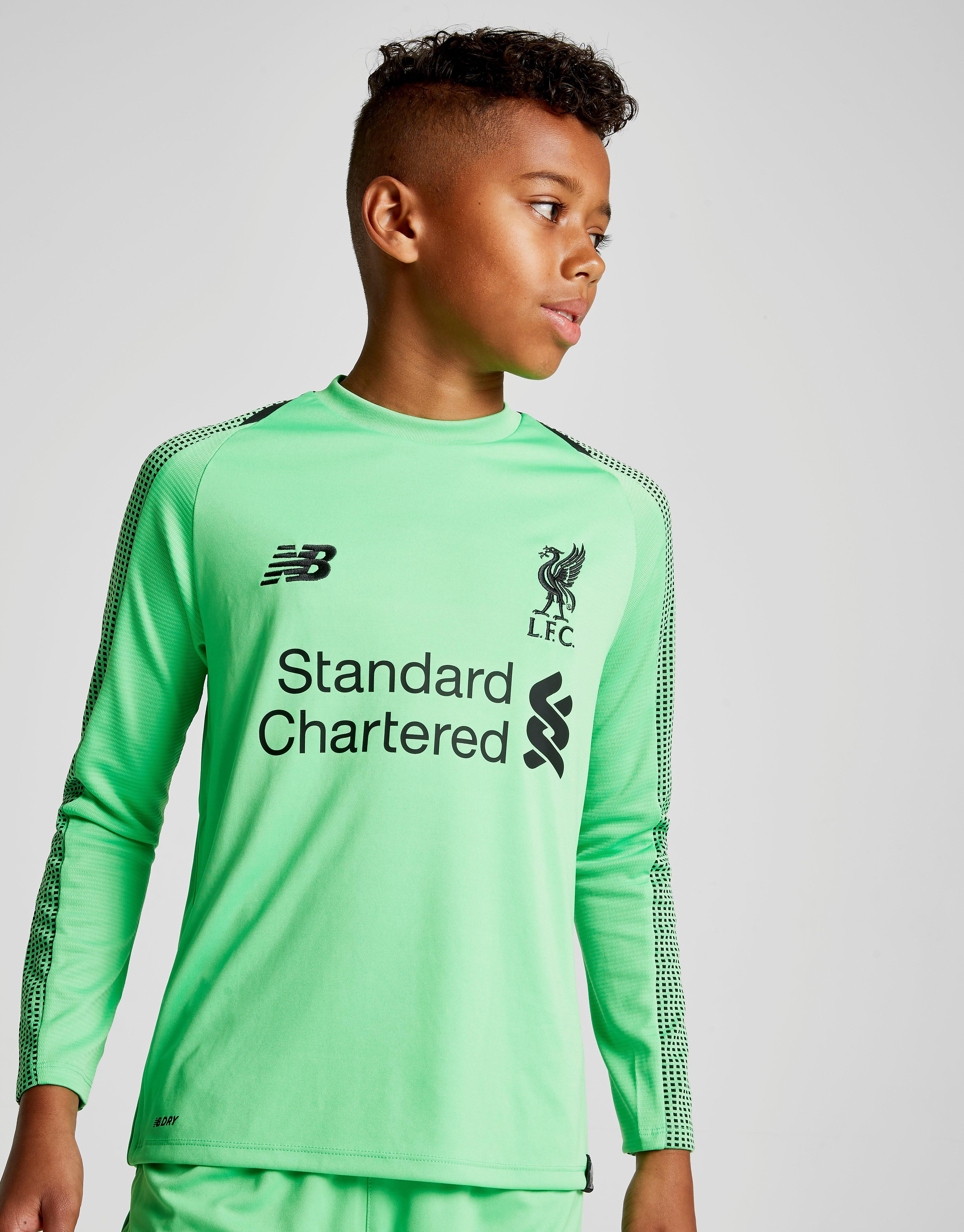New Balance Liverpool FC 2018/19 Away Goalkeeper Shirt Junior - Groen - Kind