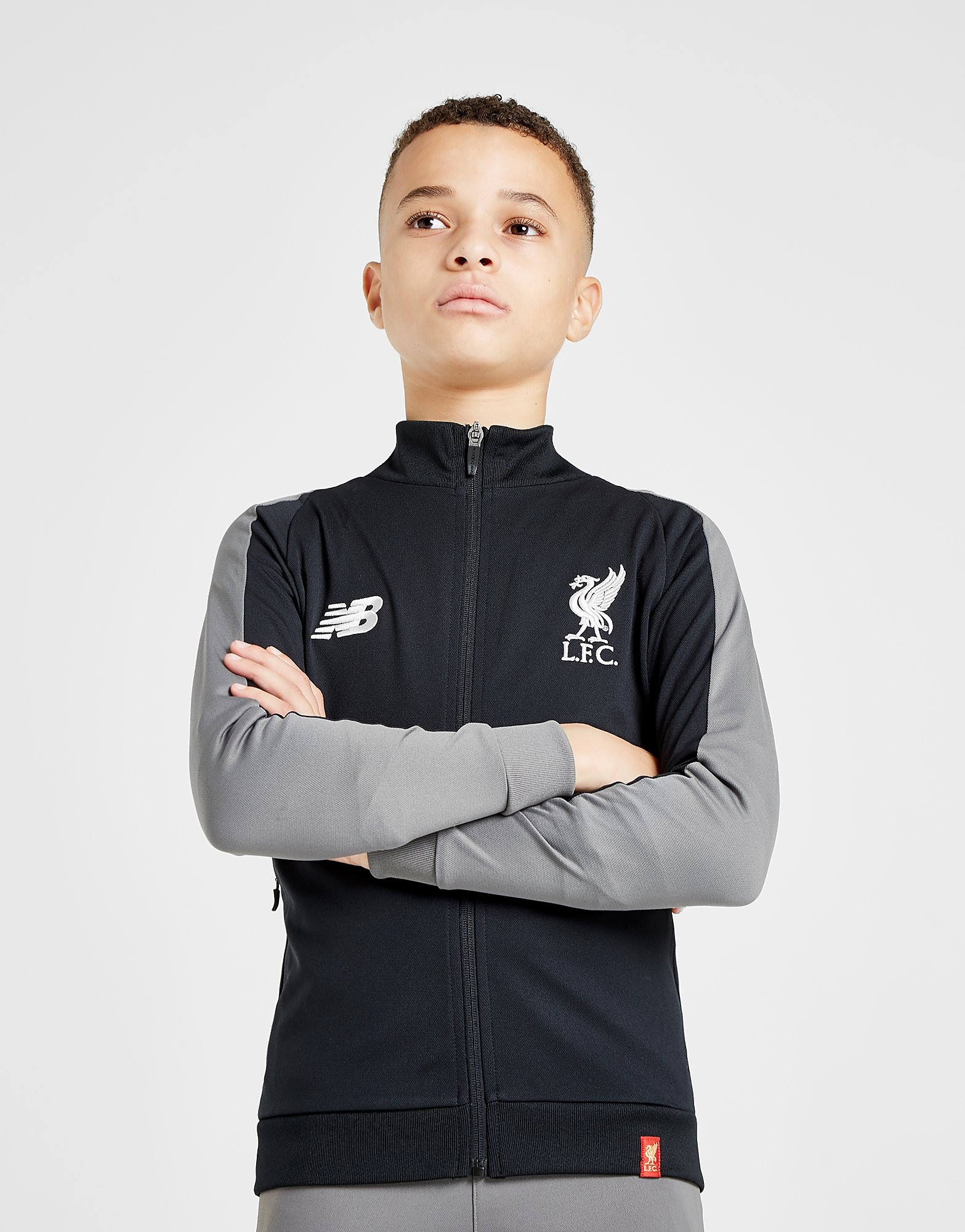 New Balance Liverpool FC Presentation Jacket Junior - Zwart - Kind