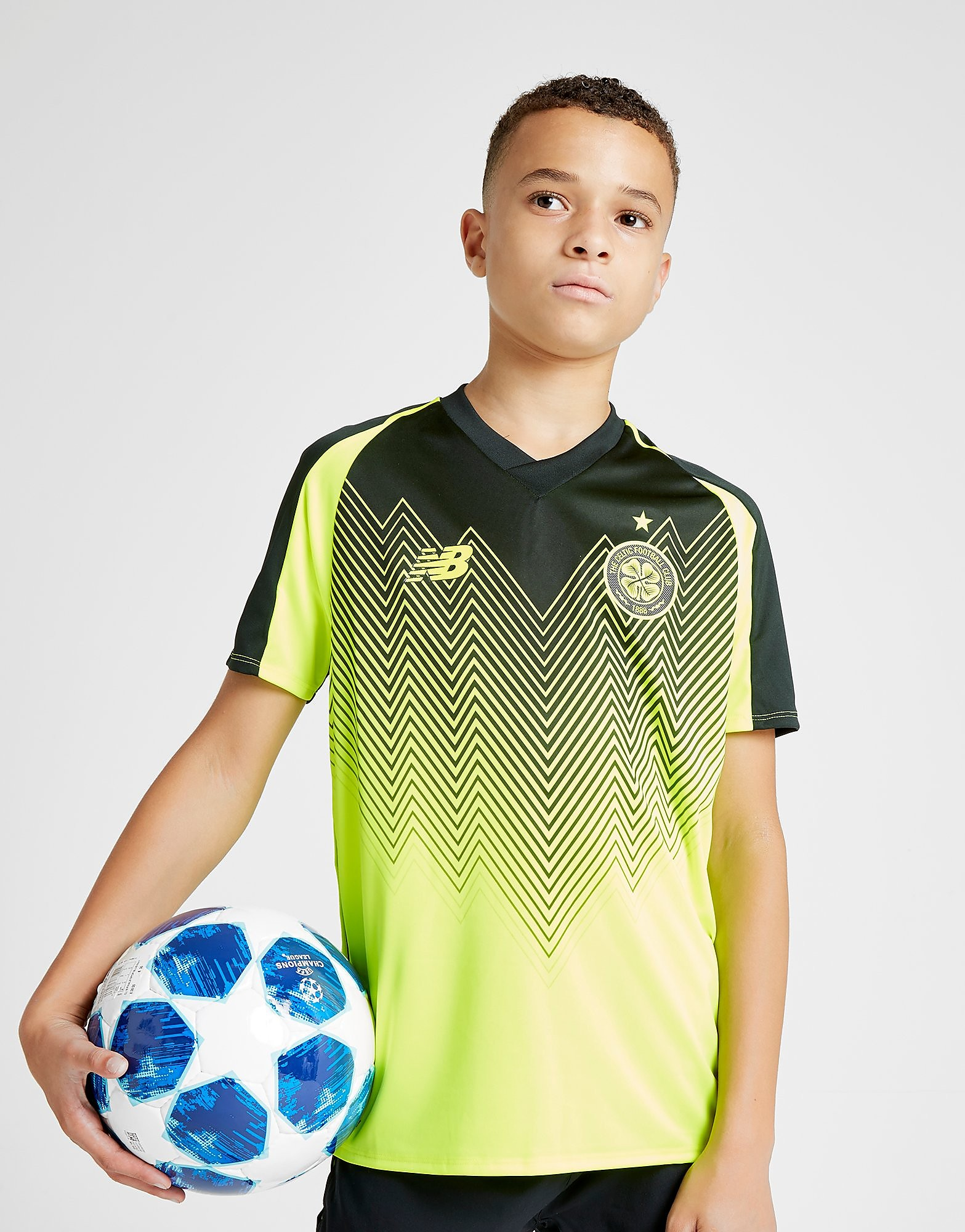 New Balance Celtic FC 2018/19 Third Shirt Junior - Geel - Kind