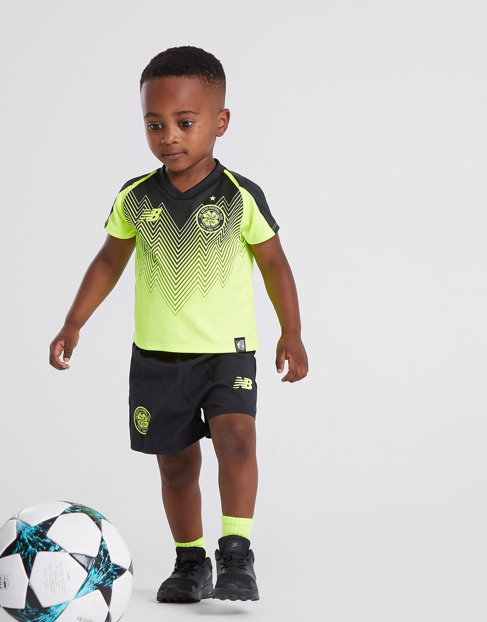 New Balance Celtic FC 2018/19 Third Kit Baby's - Geel - Kind