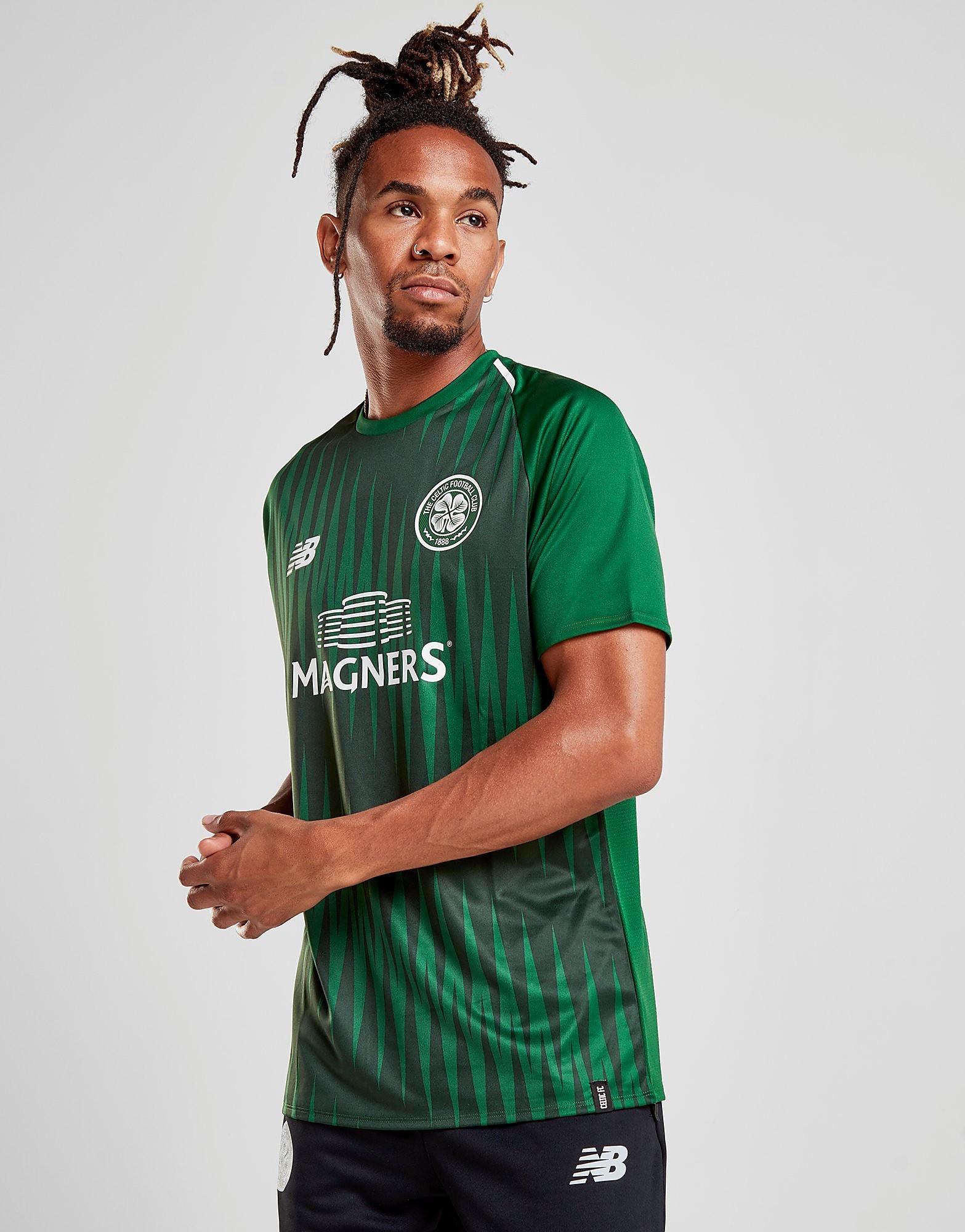 New Balance Celtic FC 2018/19 Pre Match Shirt - Groen - Heren