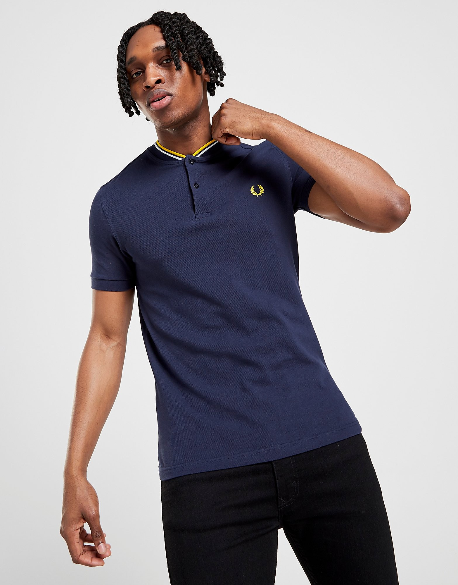 Fred Perry Bomber Collar Short Sleeve Polo Shirt