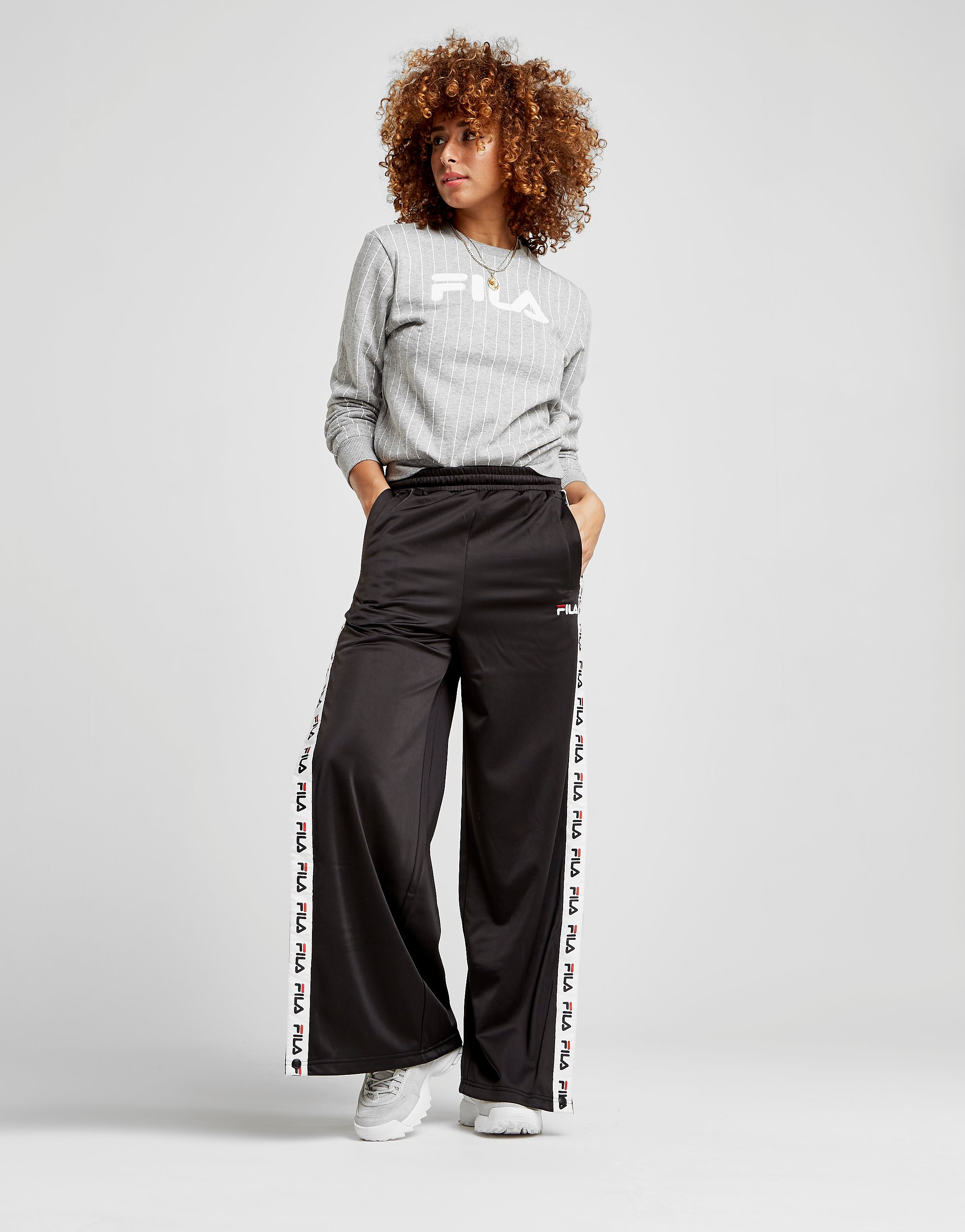 Fila Stripe Logo Crew Sweatshirt