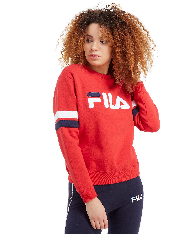 Fila Stripe Sleeve Crew Sweatshirt