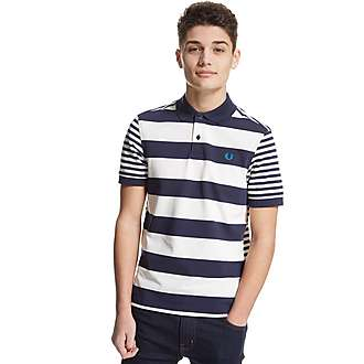 Fred Perry Mixed Striped Polo Shirt Junior