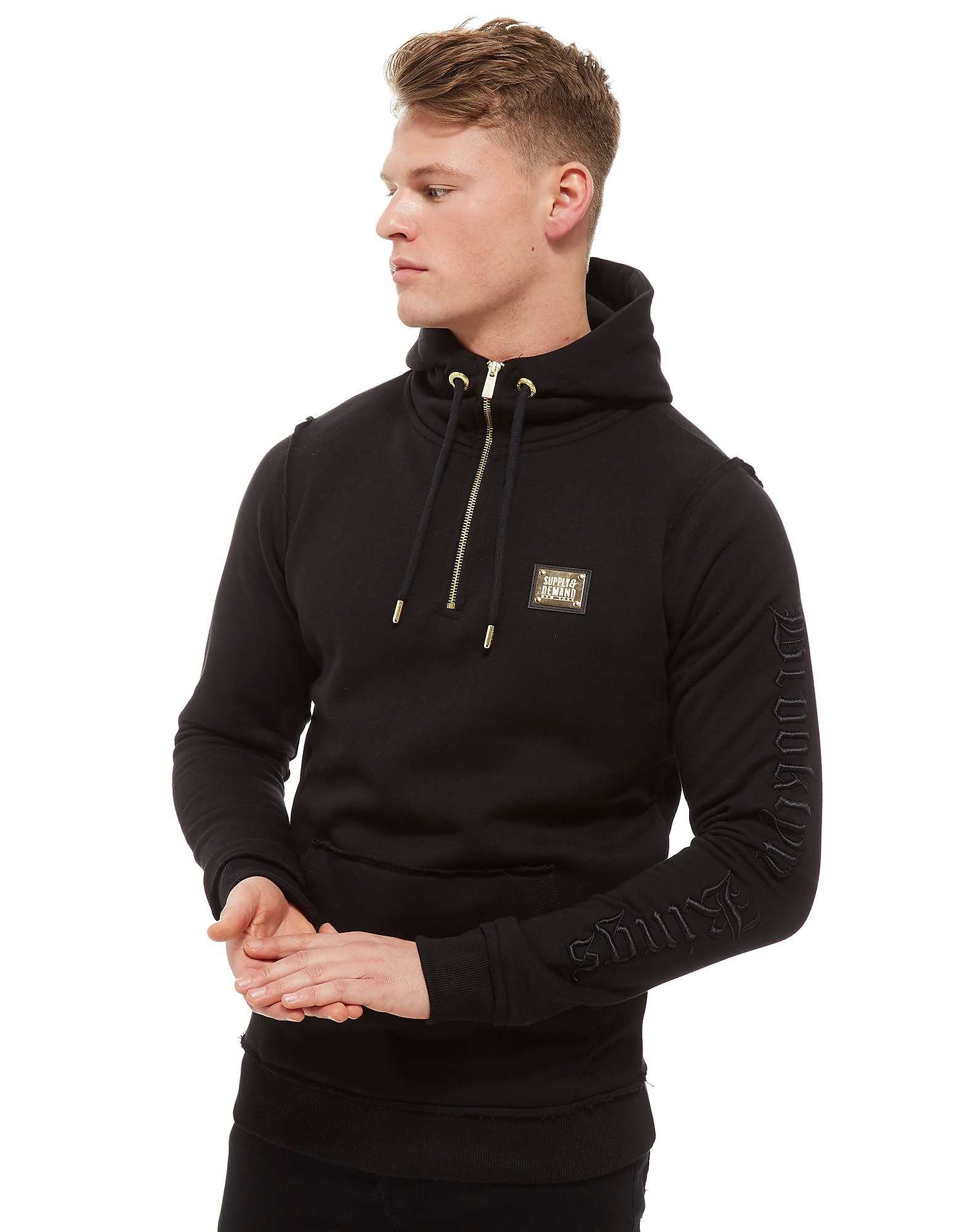 Supply & Demand Observe 1/4 Zip Hoodie - Only at JD, Black