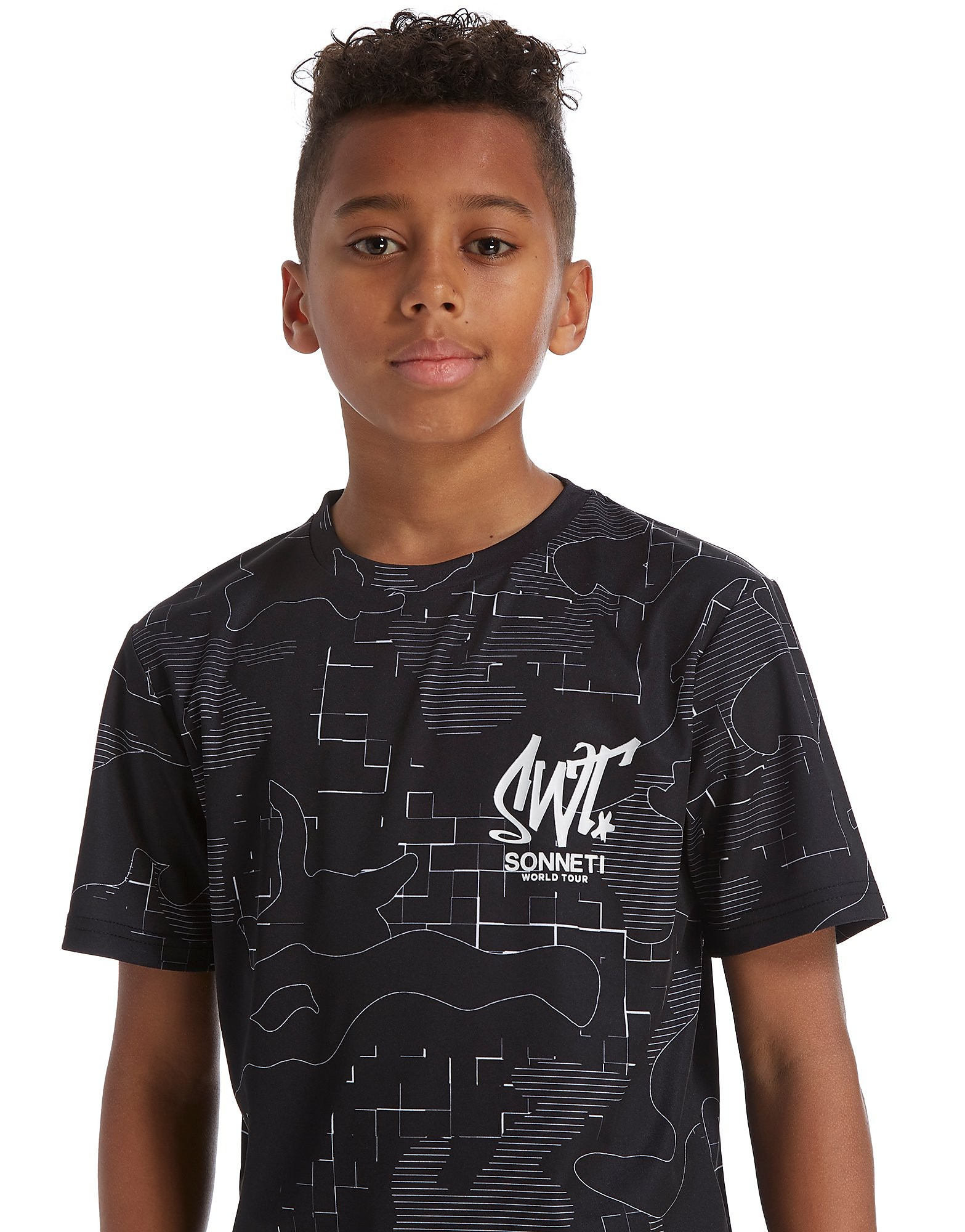 Sonneti T-shirt Lined Camo Junior - noir, noir