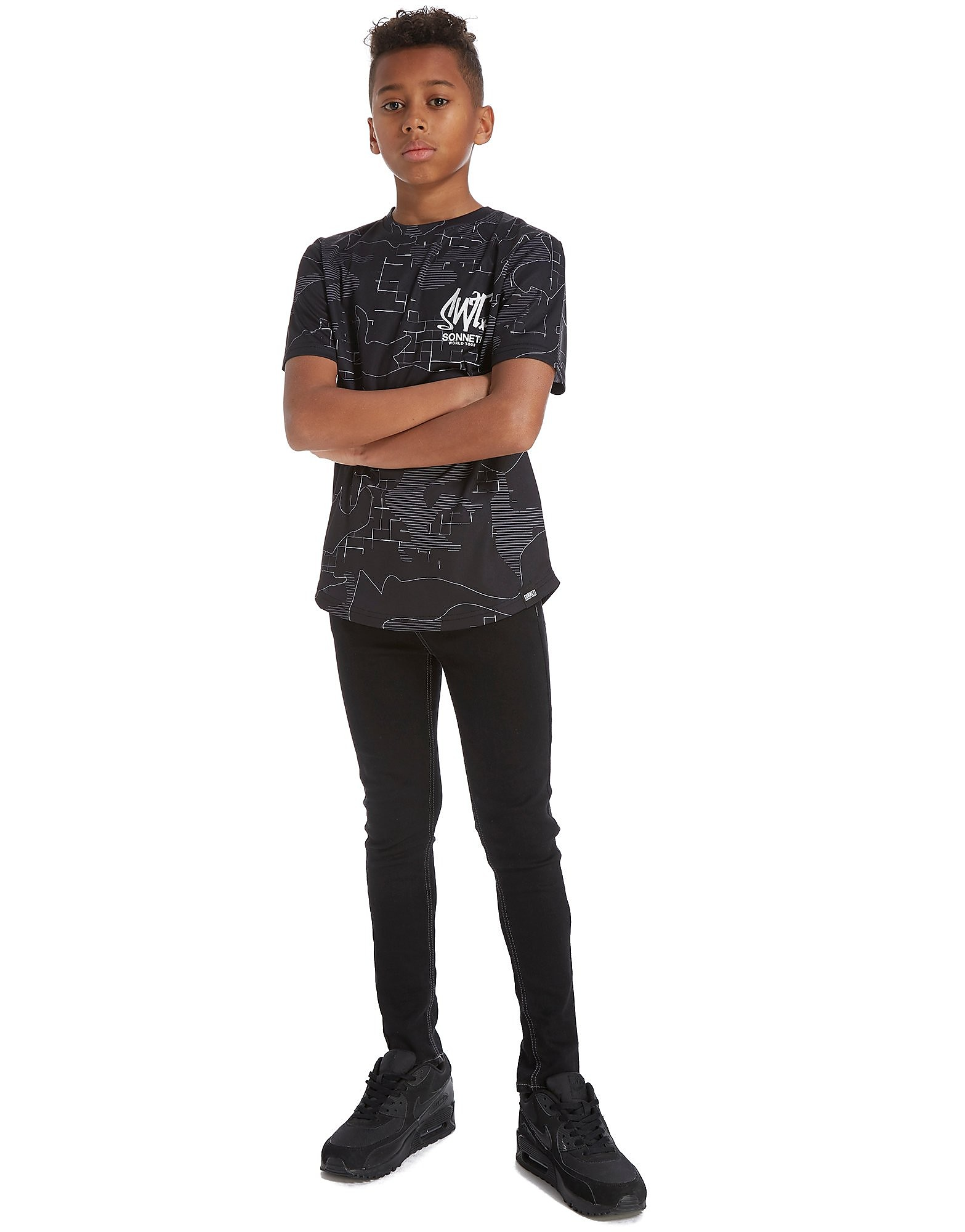 Sonneti Lined Camo T-Shirt Junior