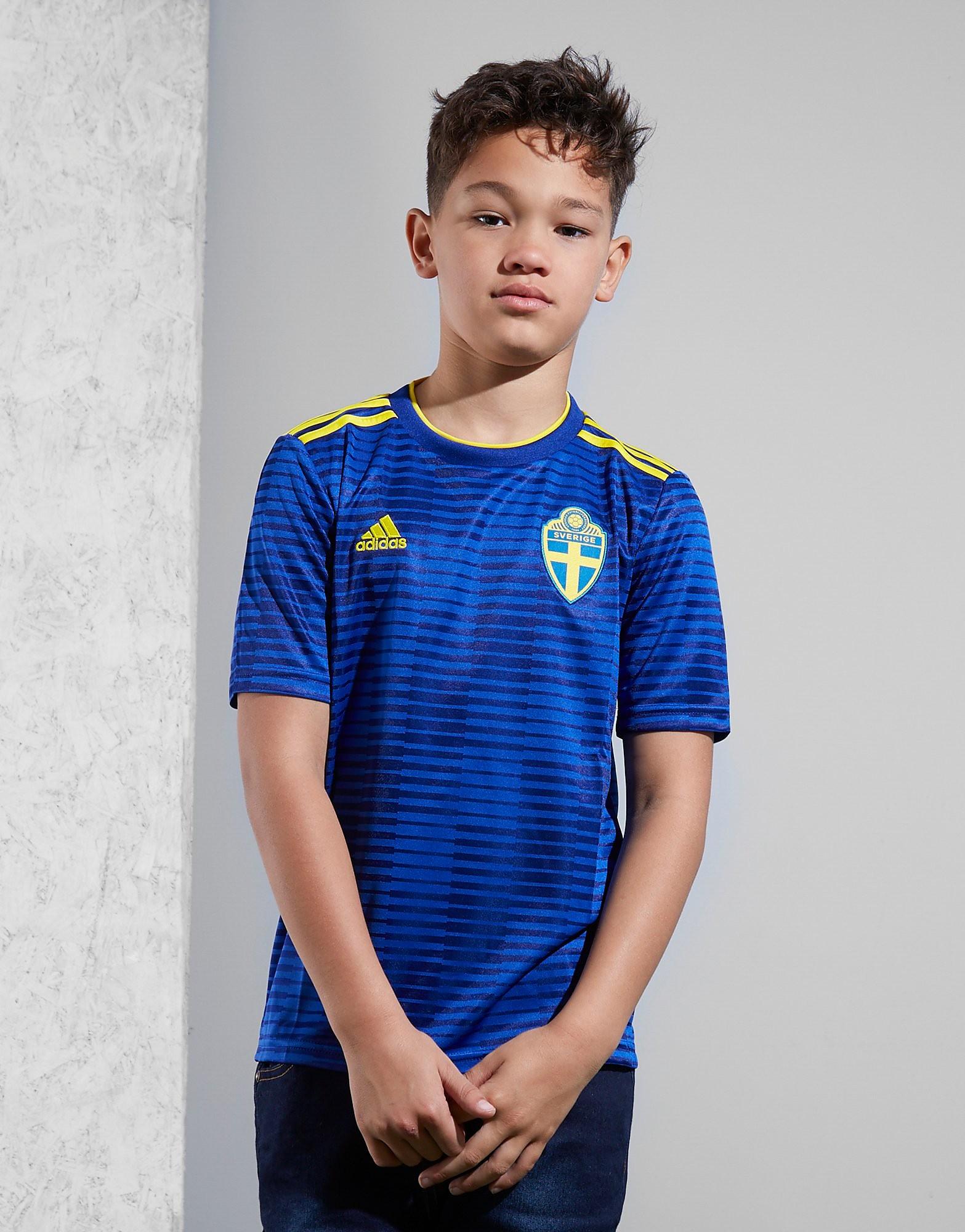 adidas Sverige 2018 Bortatröja Junior FÖRBESTÄLLNING