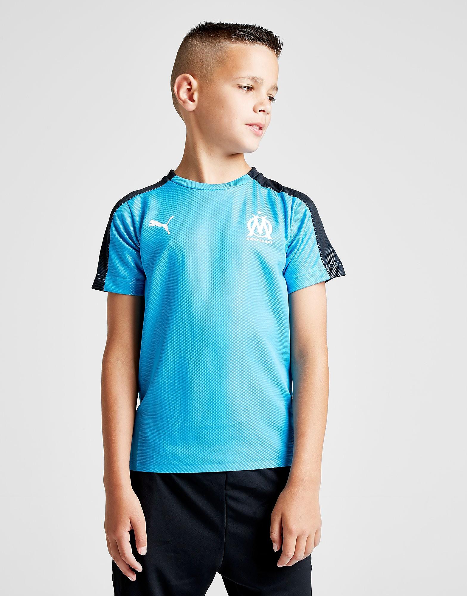 PUMA Olympique Marseille Pre Match Shirt Junior - Blauw - Kind