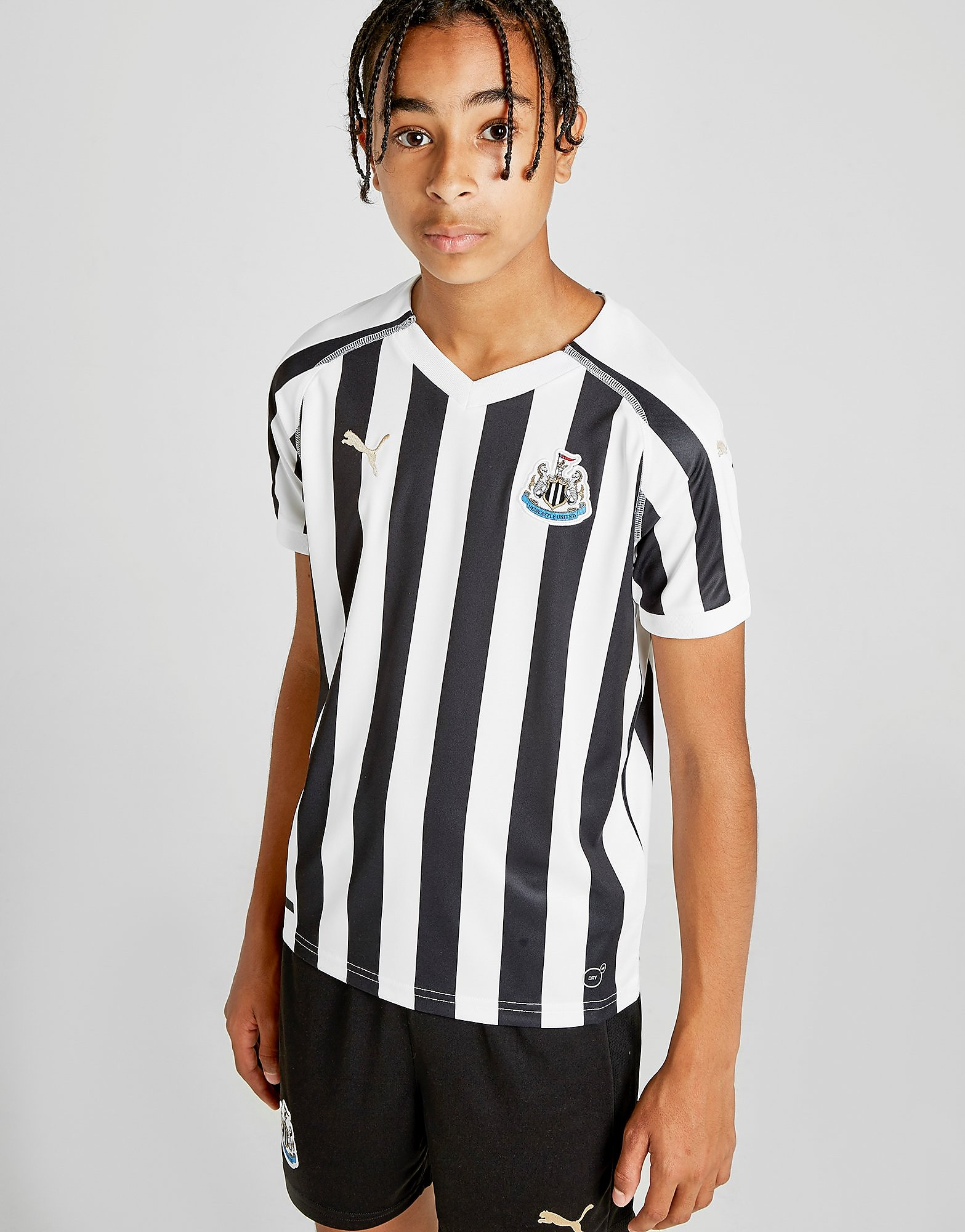 PUMA Newcastle United FC 2018/19 Home Shirt Junior - Zwart - Kind