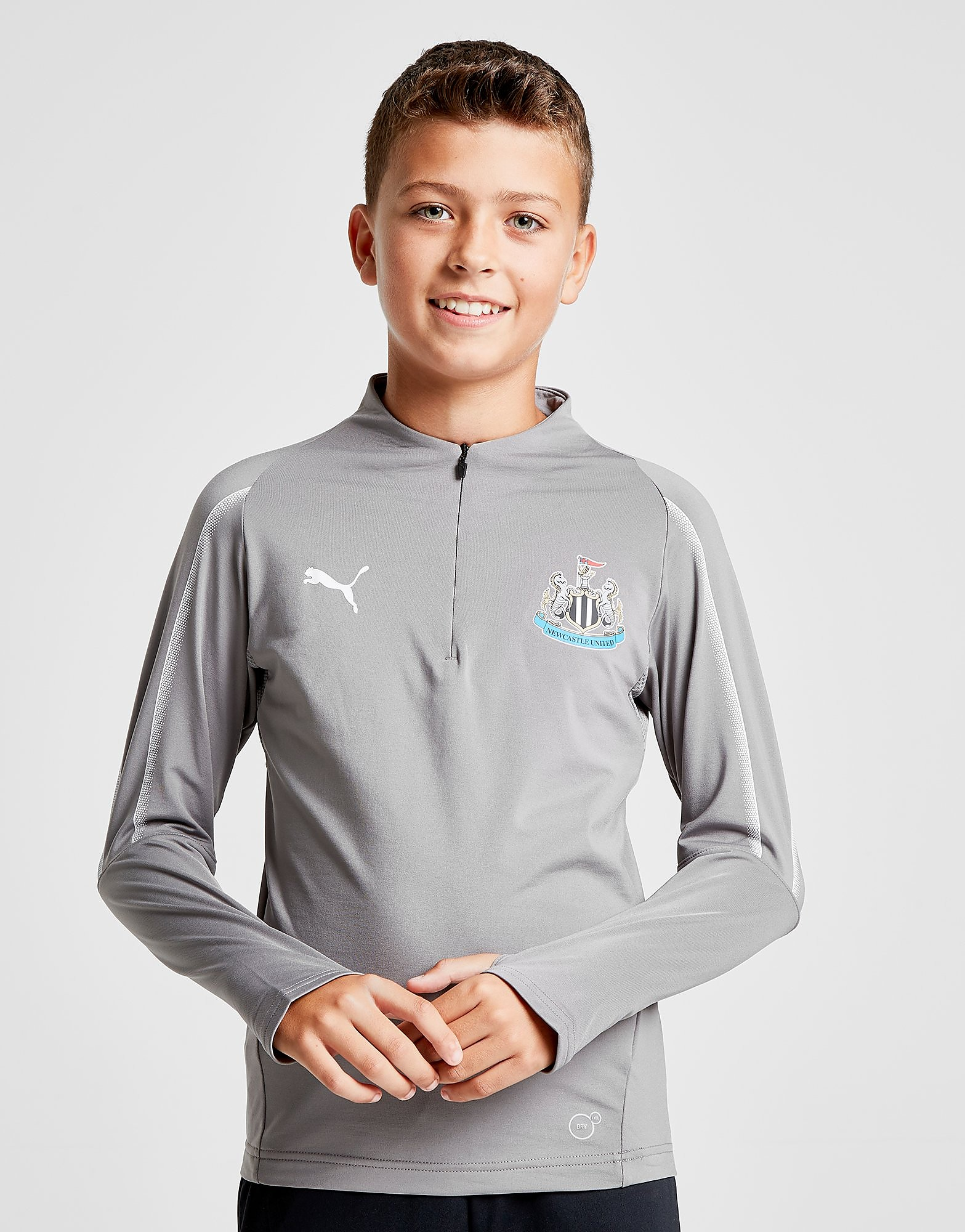 PUMA Newcastle United FC 1/4 Zip Track Top Junior - Grijs - Kind