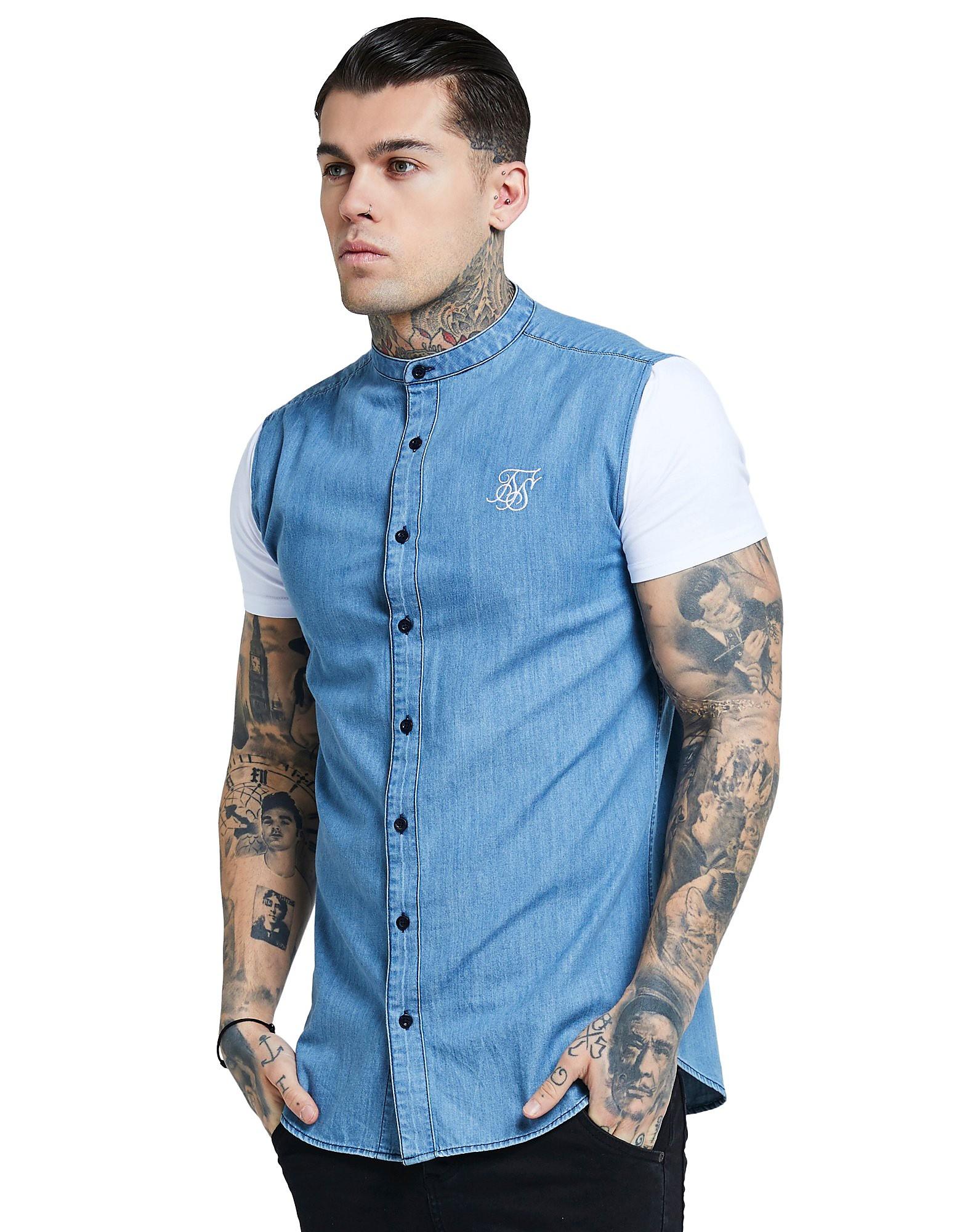 SikSilk Mid Denim Short Sleeve Shirt