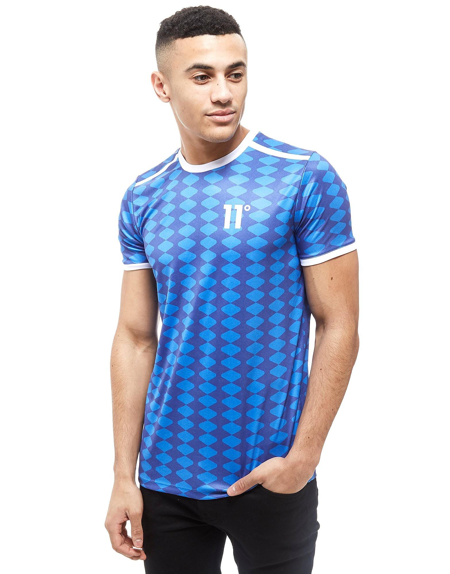 11 Degrees T-shirt Diamond Football Homme - bleu, bleu