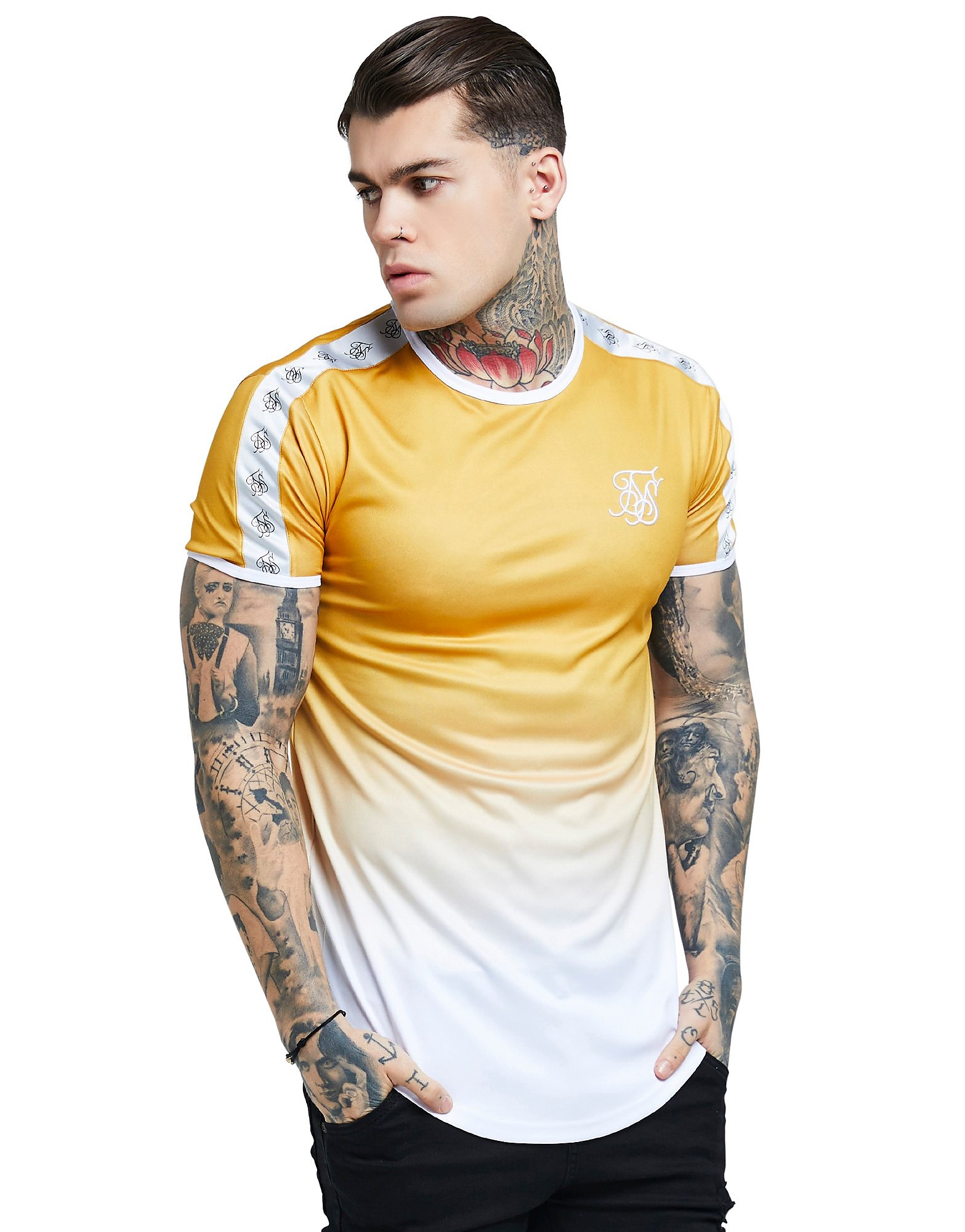 SikSilk Taped Fade T-Shirt