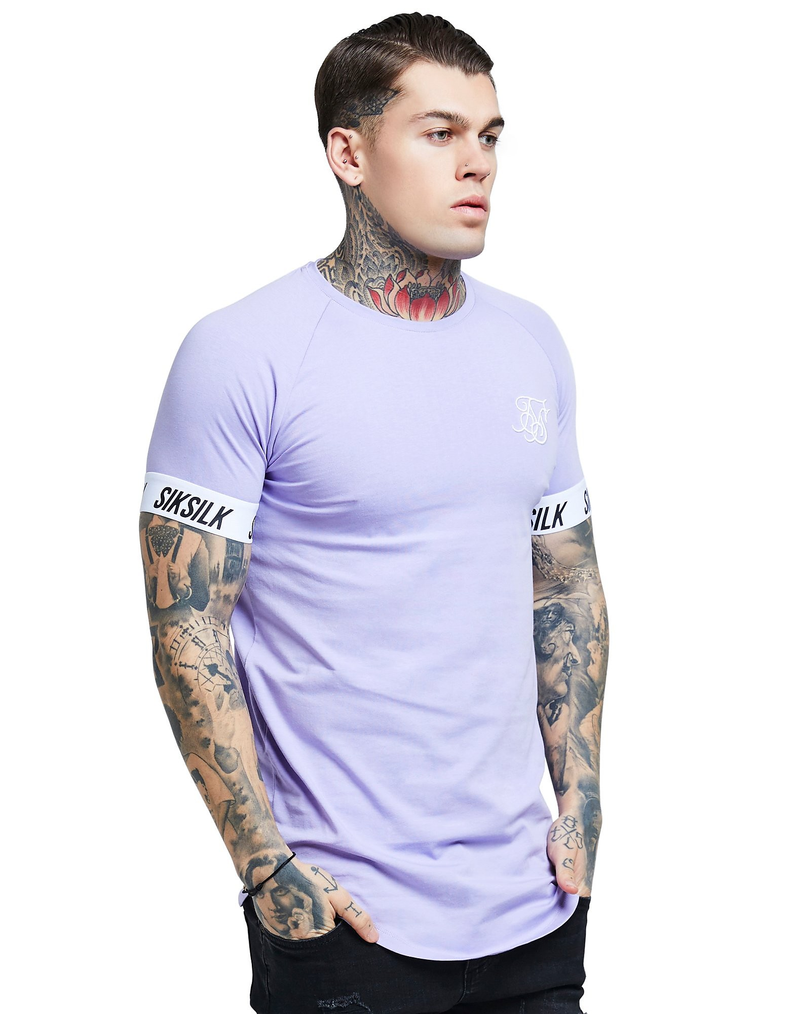 SikSilk Taped Sleeve T-Shirt