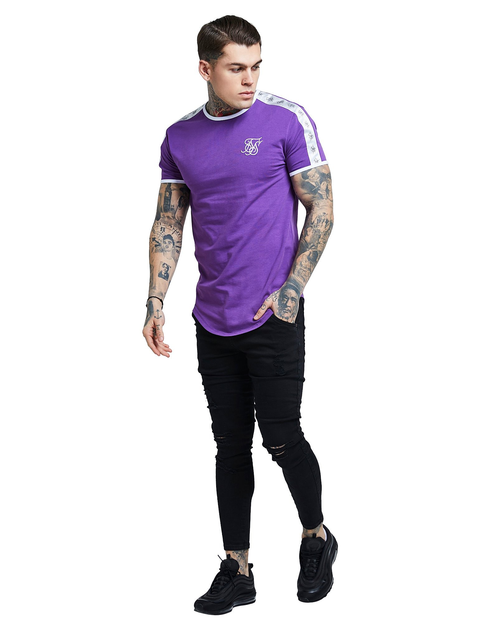 SikSilk Side Tape T-Shirt