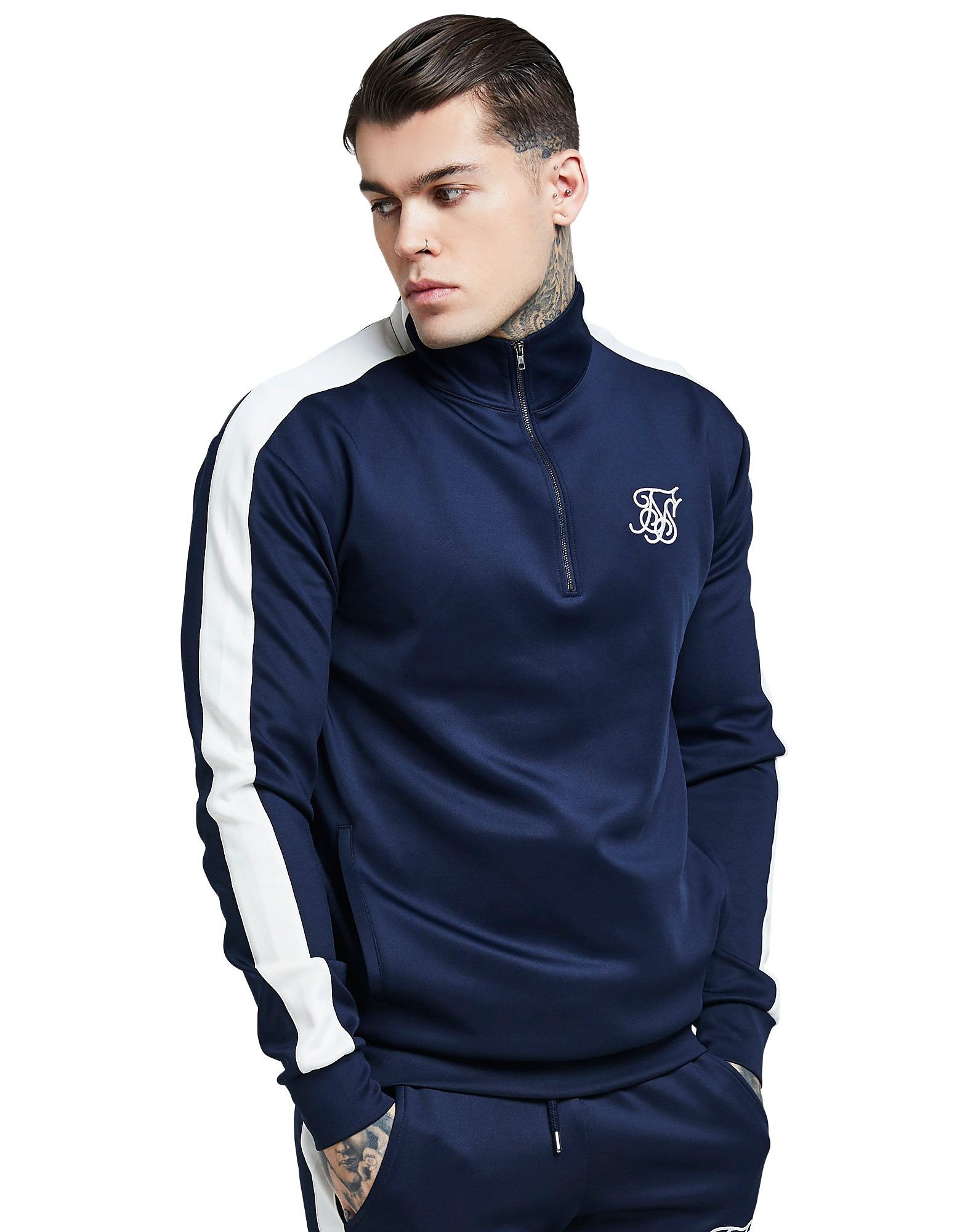 SikSilk 1/4 Zip Athlete Track Top