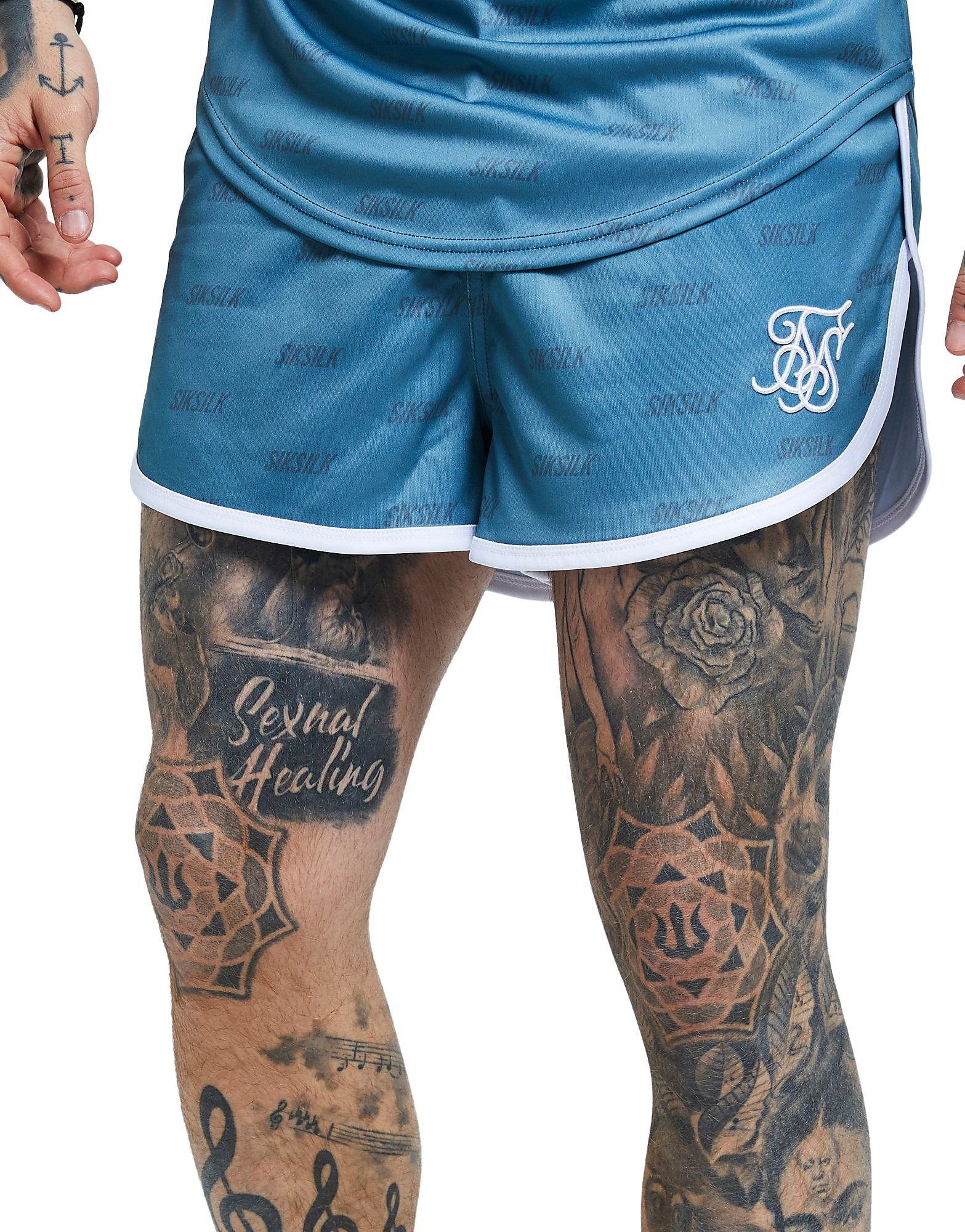 SikSilk Poly All Over Print Shorts