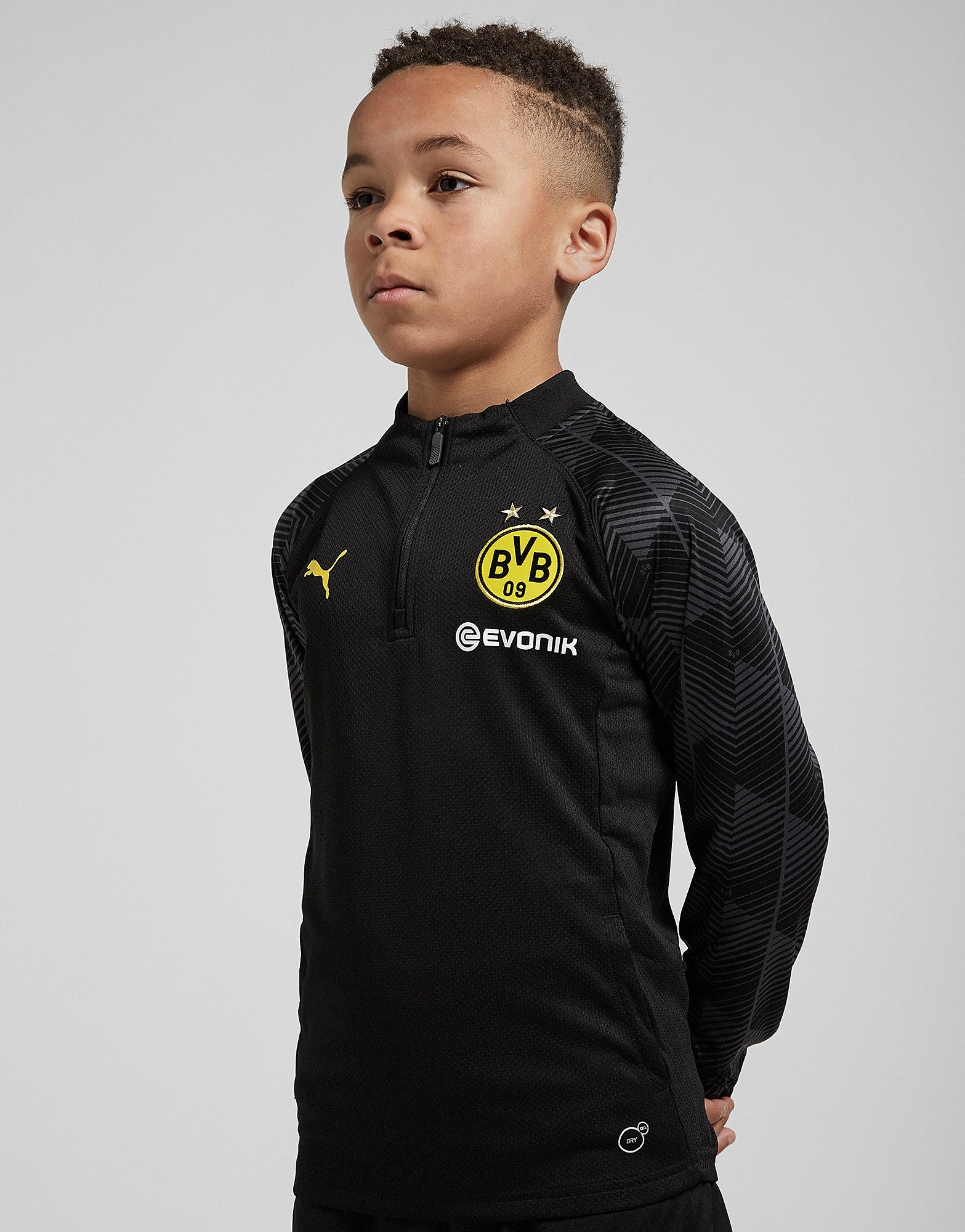 PUMA Borussia Dortmund 2018 1/4 Zip Training Top Junior