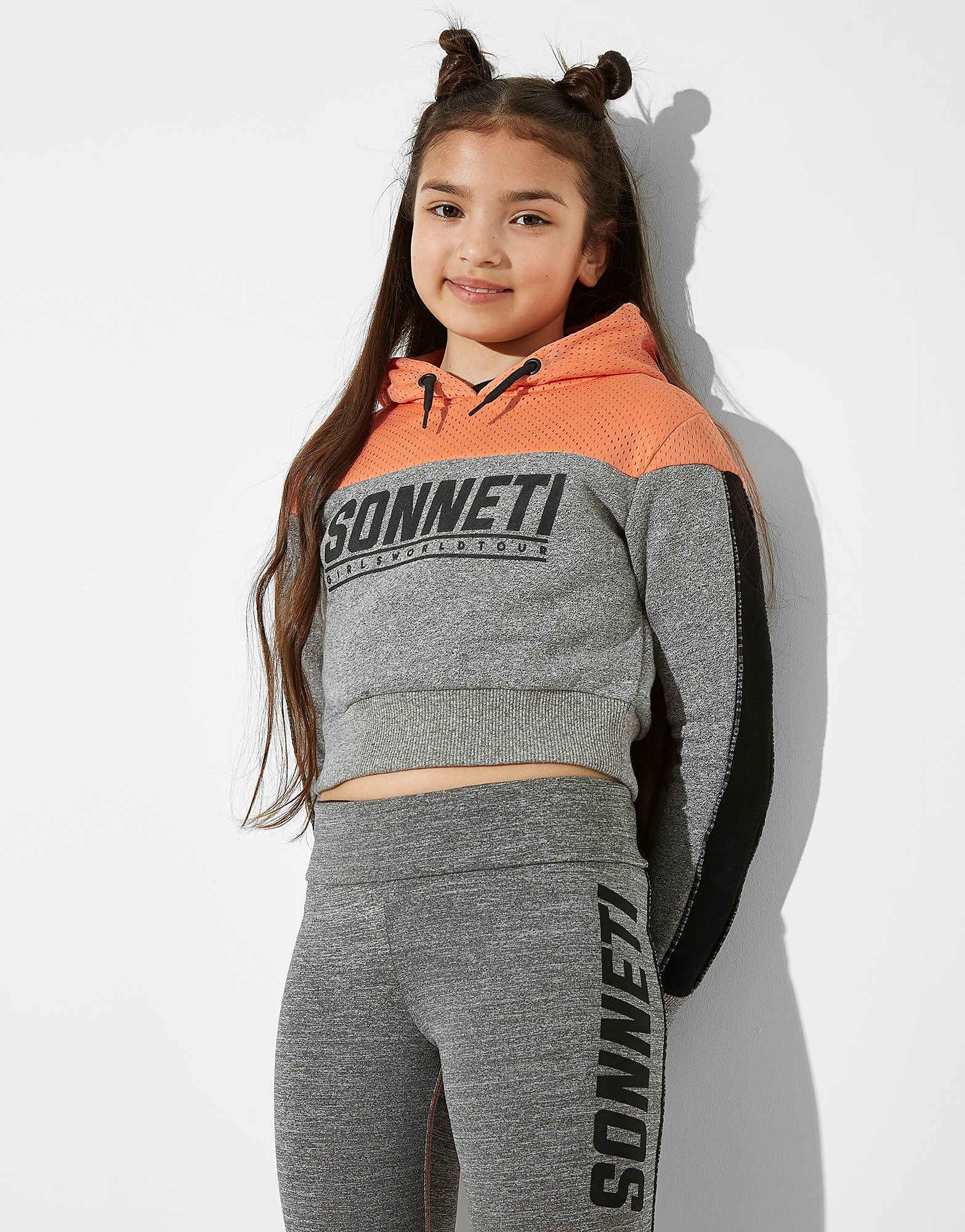 Sonneti Girls' Track Crop Overhead Hoodie Junior