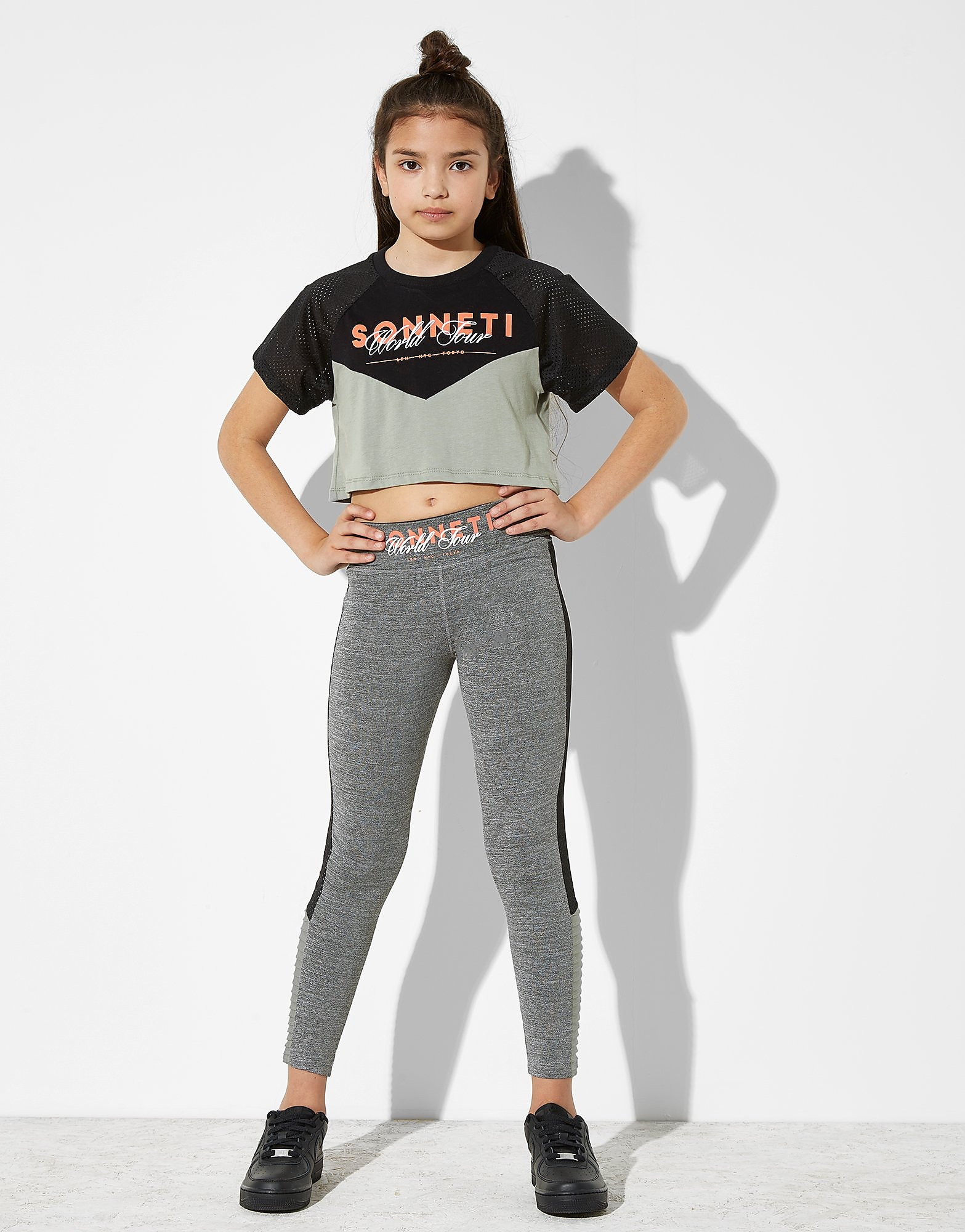 Sonneti Circuit Panel Crop T-Shirt Junior