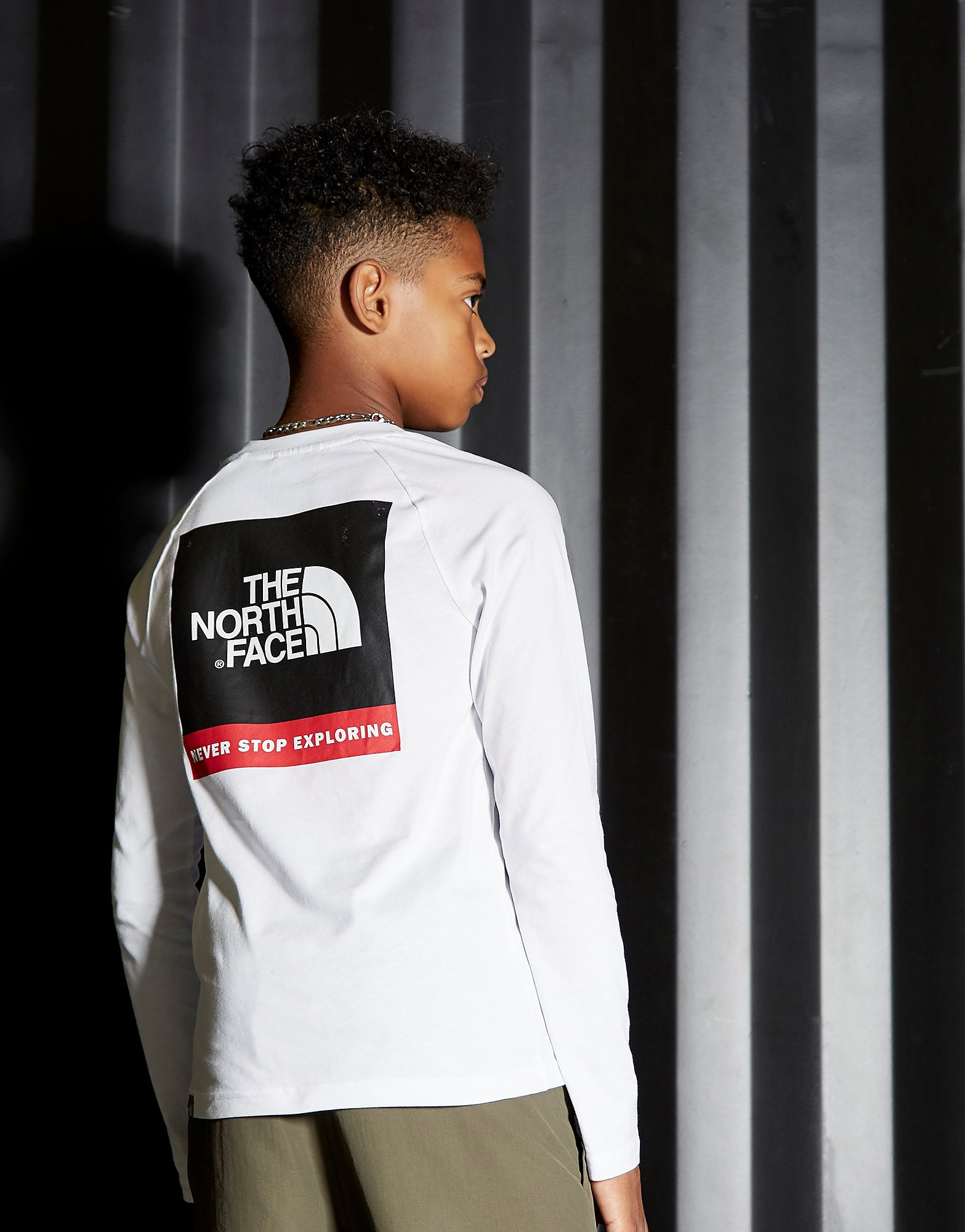 The North Face Simple Dome Long Sleeve T-Shirt Junior - alleen bij JD - Wit - Kind