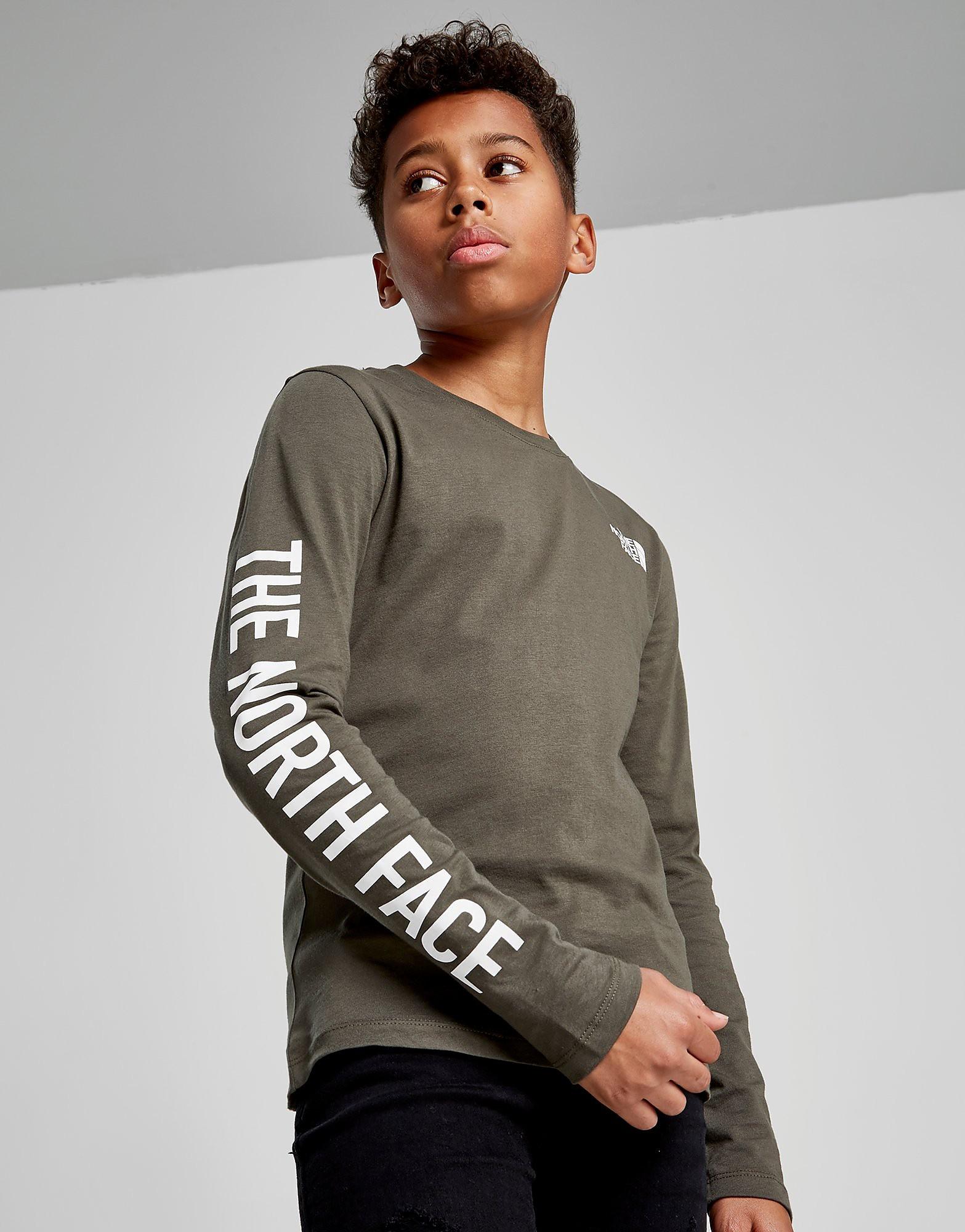 The North Face Long Sleeve T-Shirt Junior - alleen bij JD - Groen - Kind