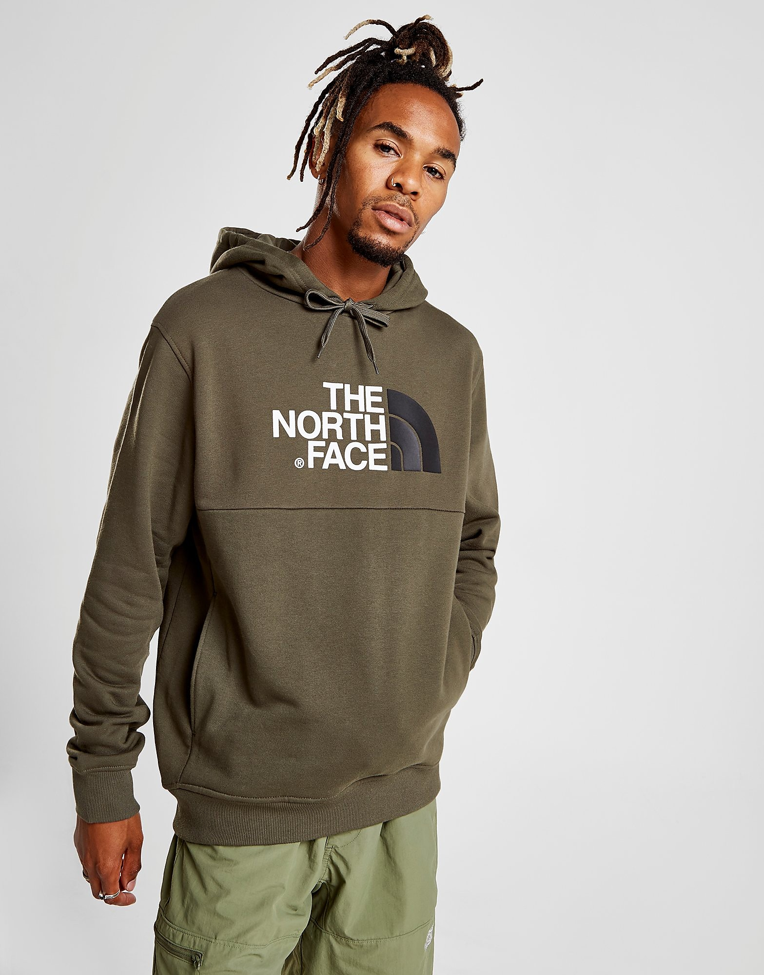 The North Face Bondi Over The Head Fleece Hoodie Heren - alleen bij JD - Groen - Heren