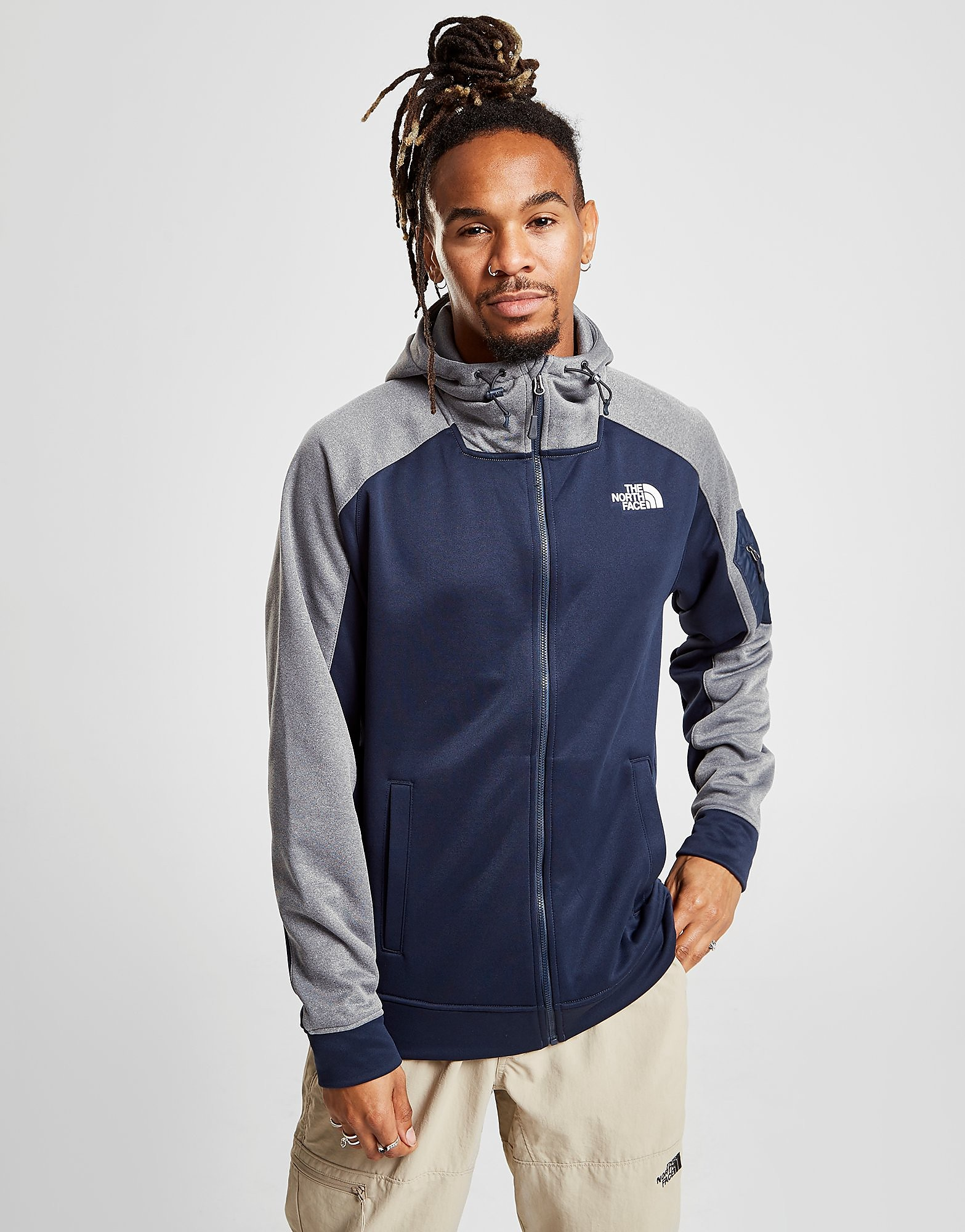 a87400d88589 The North Face Mittellegi Full Zip Hoodie - Only at JD - Bleu, Bleu