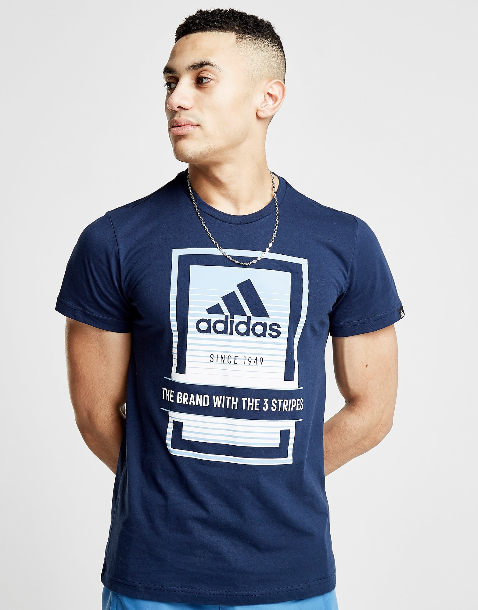 adidas Fade Box Logo T-Shirt Heren