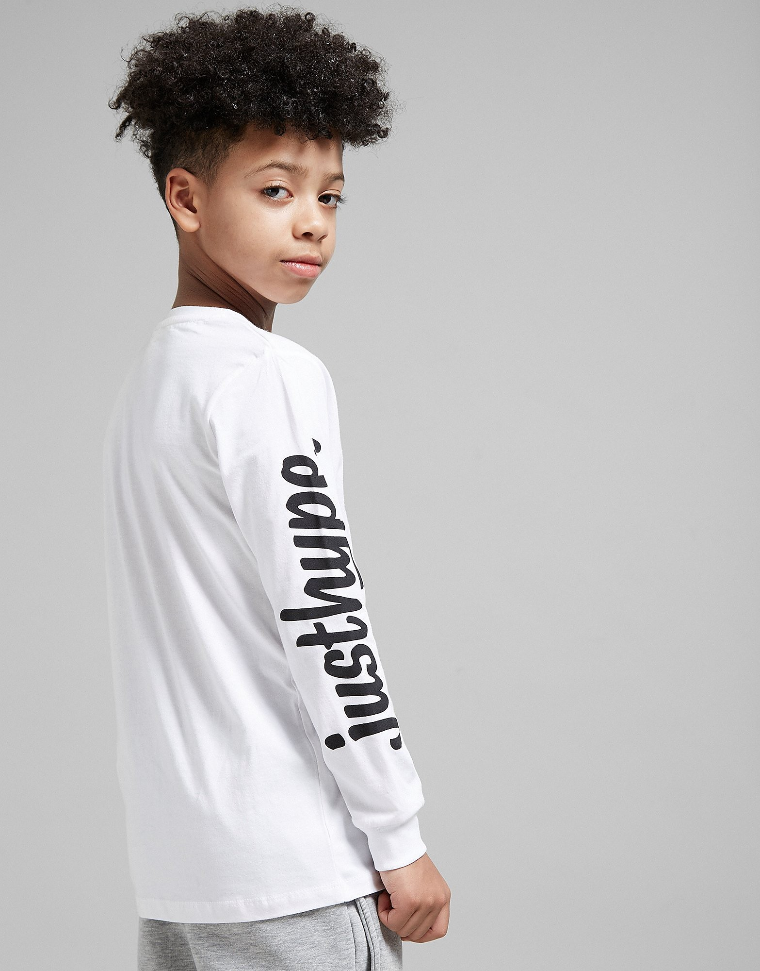 Hype Long Sleeve Script T-Shirt Junior