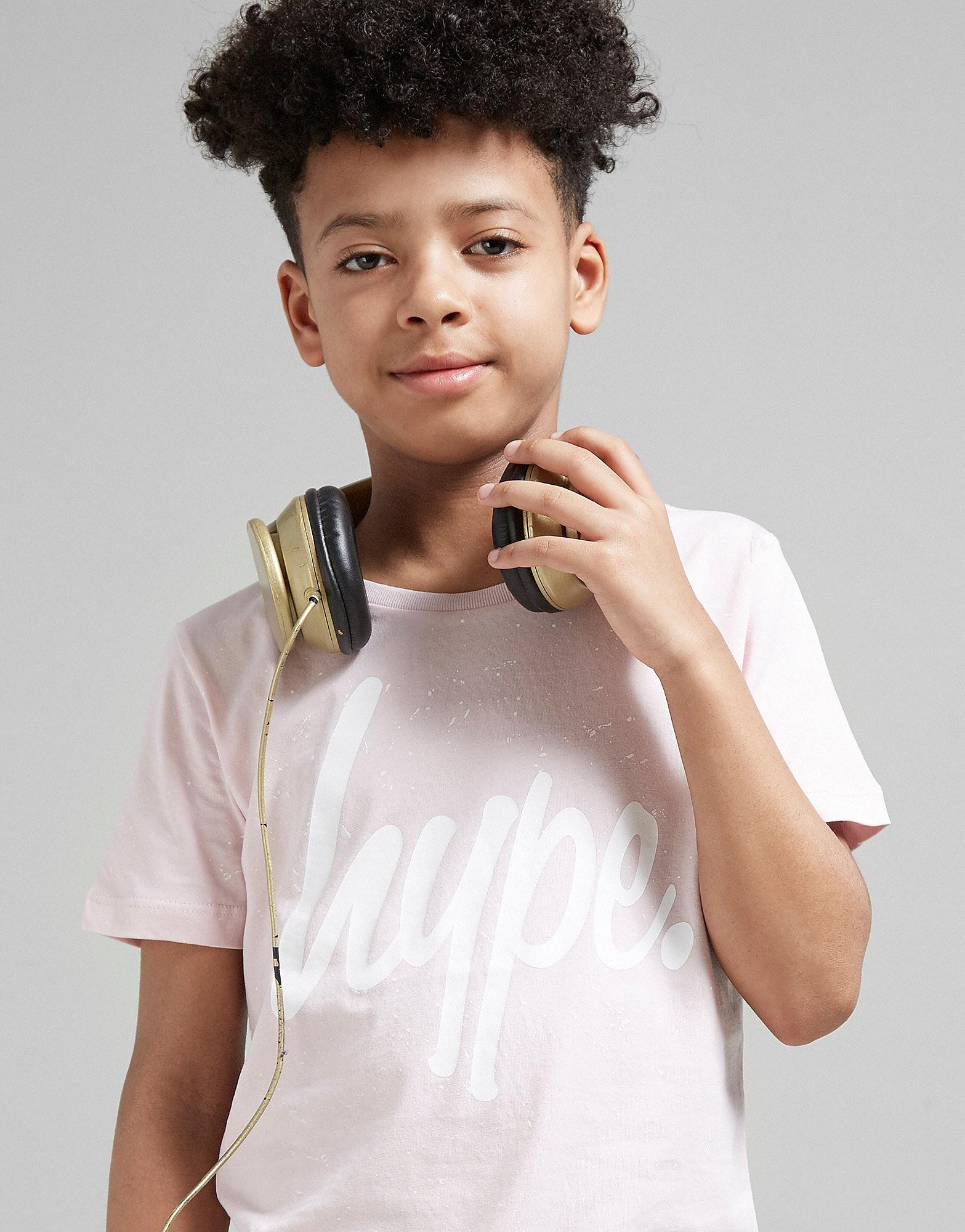 Hype Pink Speckle T-Shirt Junior