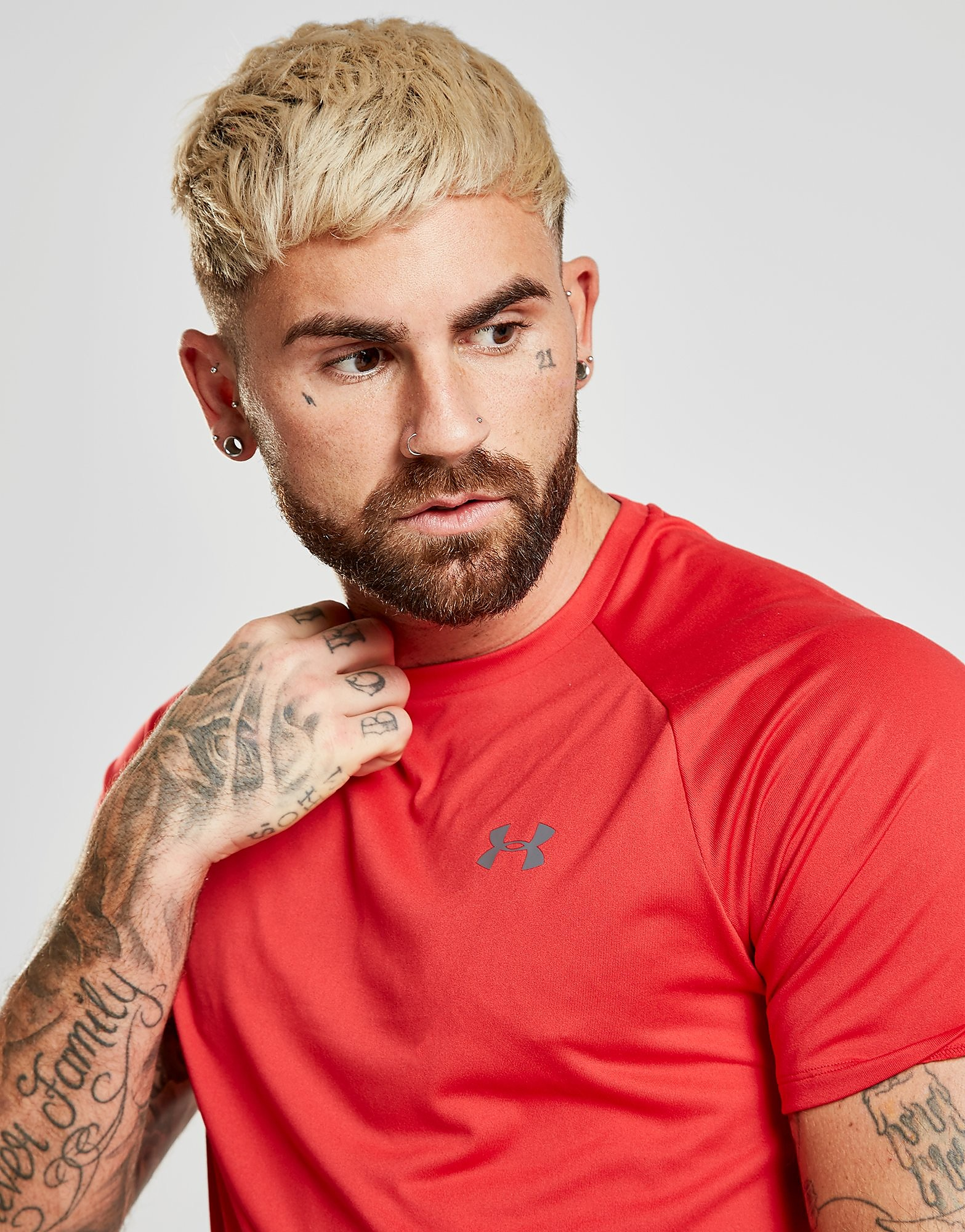 Under Armour Tech T-Shirt Heren - Rood - Heren