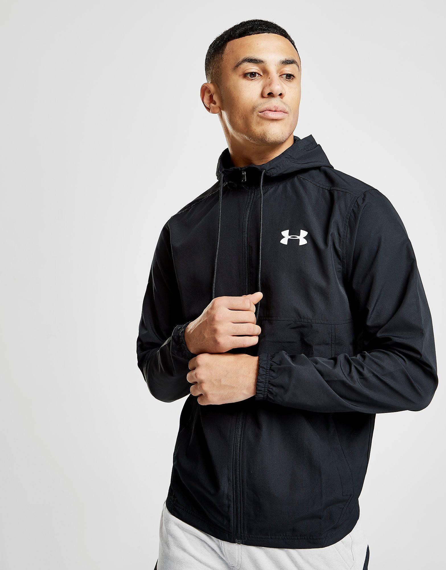 Under Armour Sportstyle Woven Full Zip Jacket - Schwarz - Mens, Schwarz