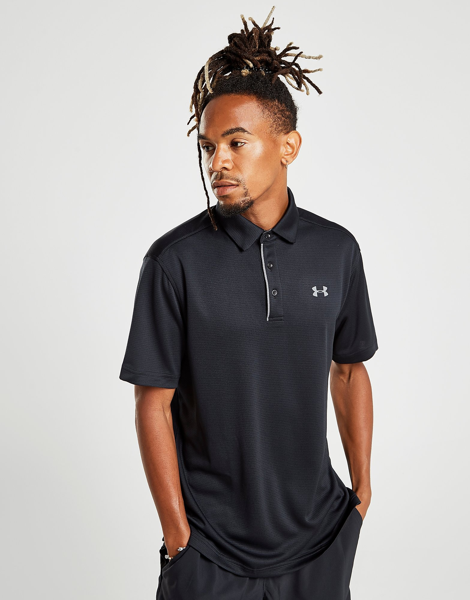 Under Armour Tech Polo Shirt Heren - Zwart - Heren