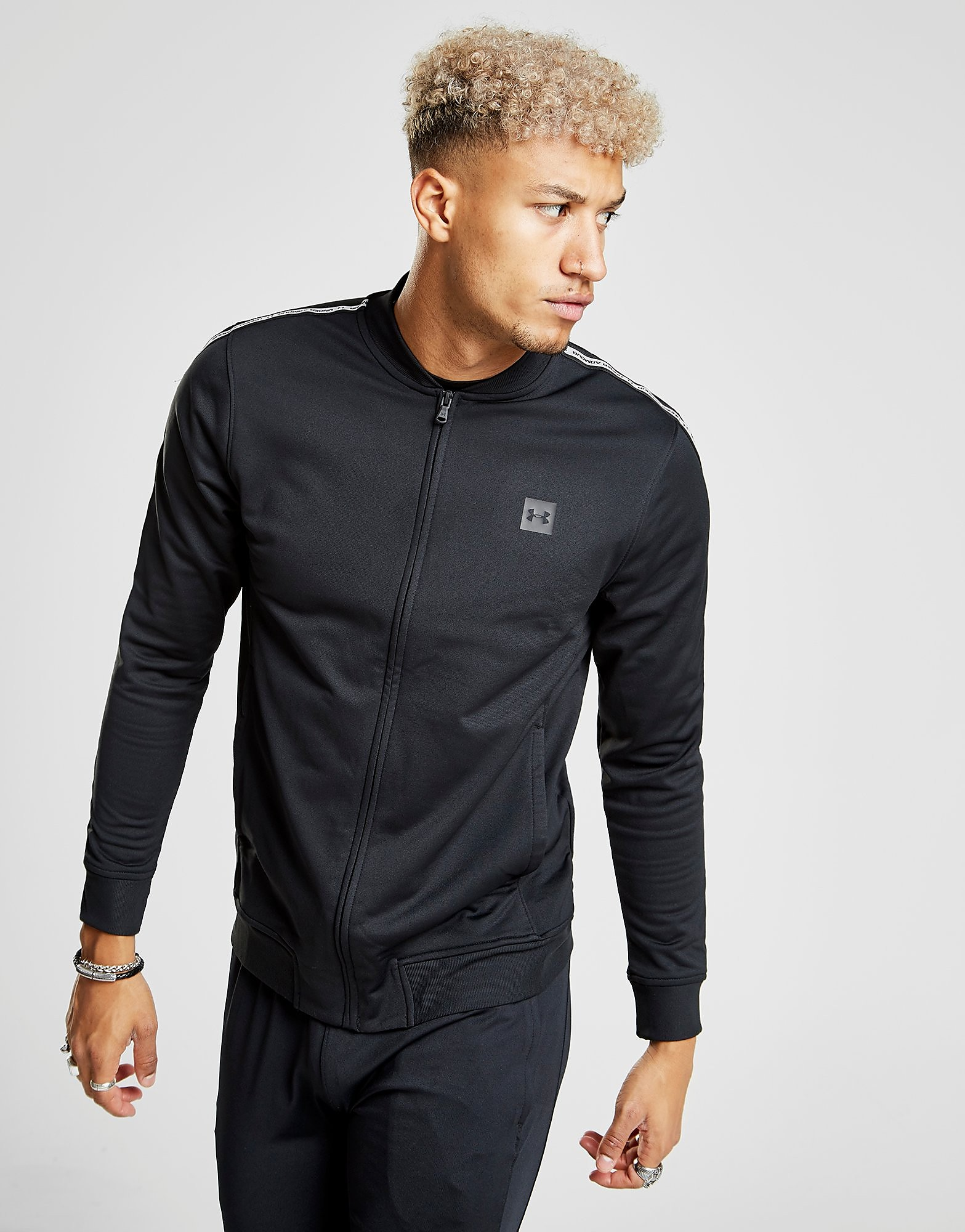 Under Armour Sportstyle Tape Track Top Heren - Zwart - Heren