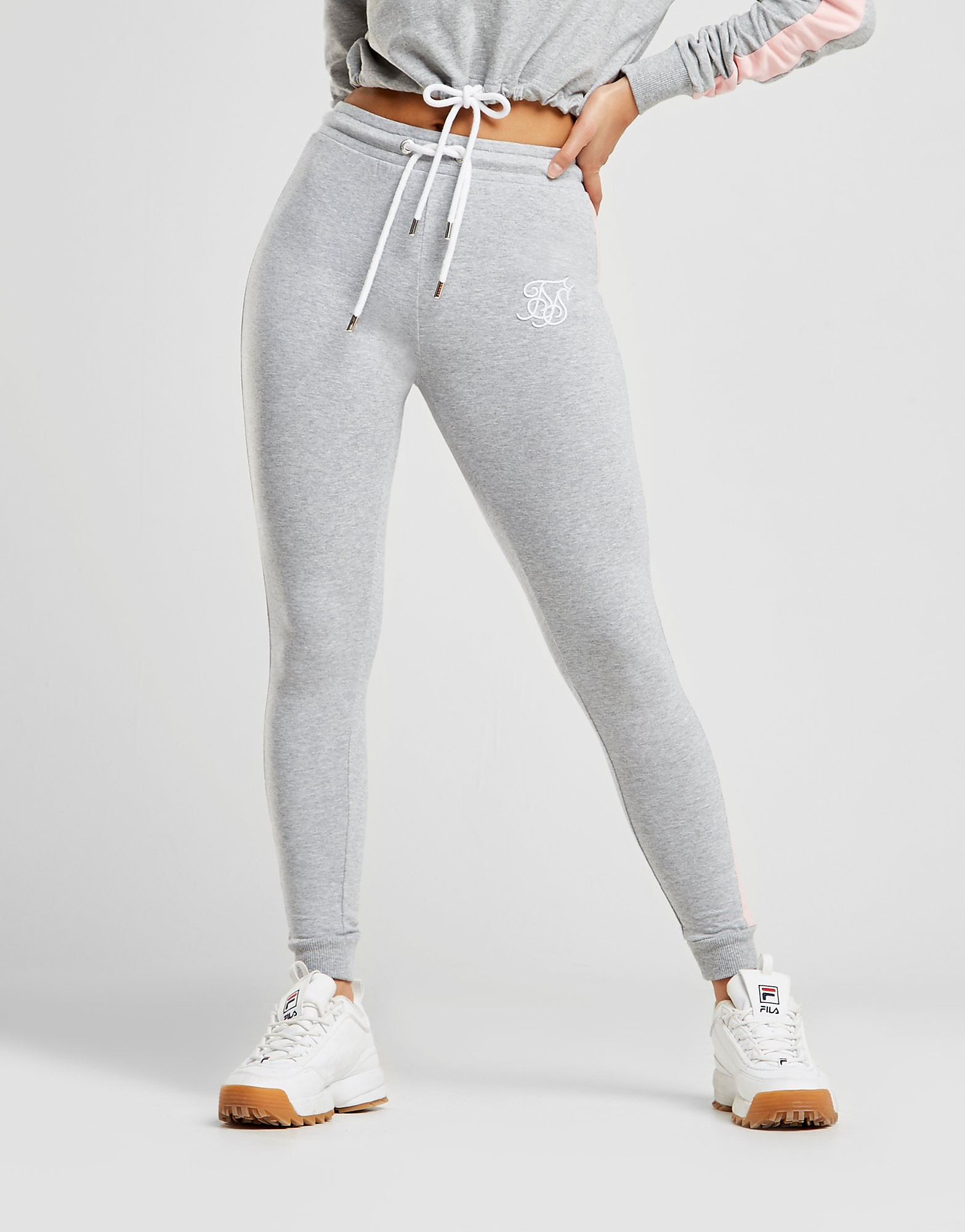SikSilk Panel Fleece Pants Dames - alleen bij JD - Grijs - Dames