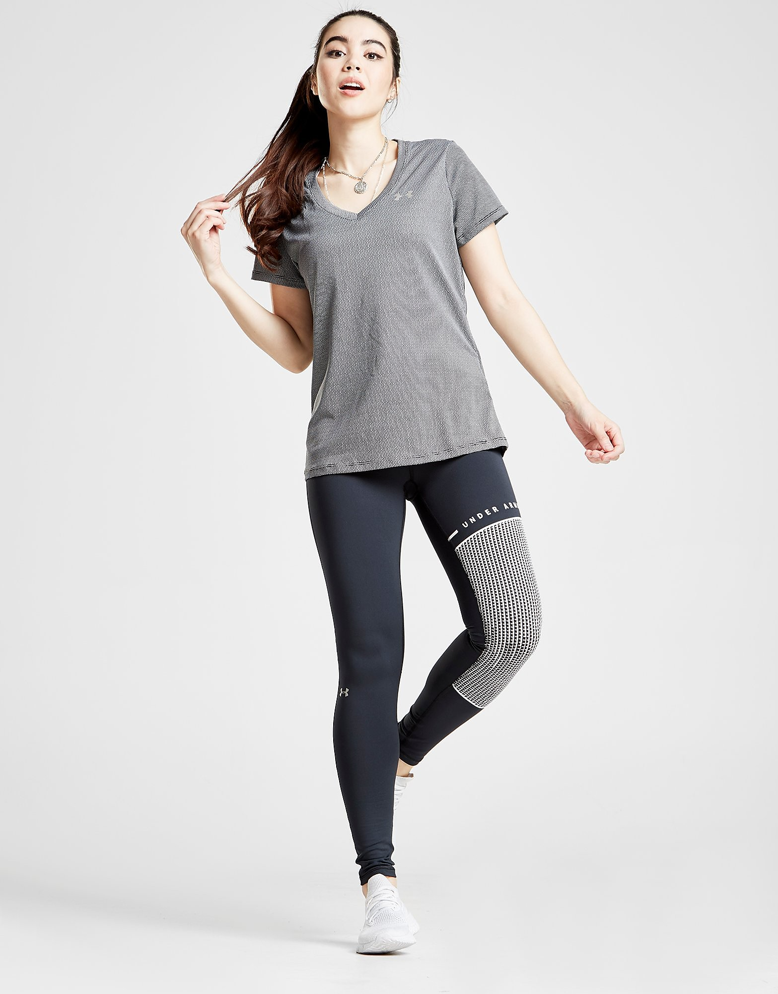 Under Armour Colour Block Leggings - Schwarz - Womens, Schwarz