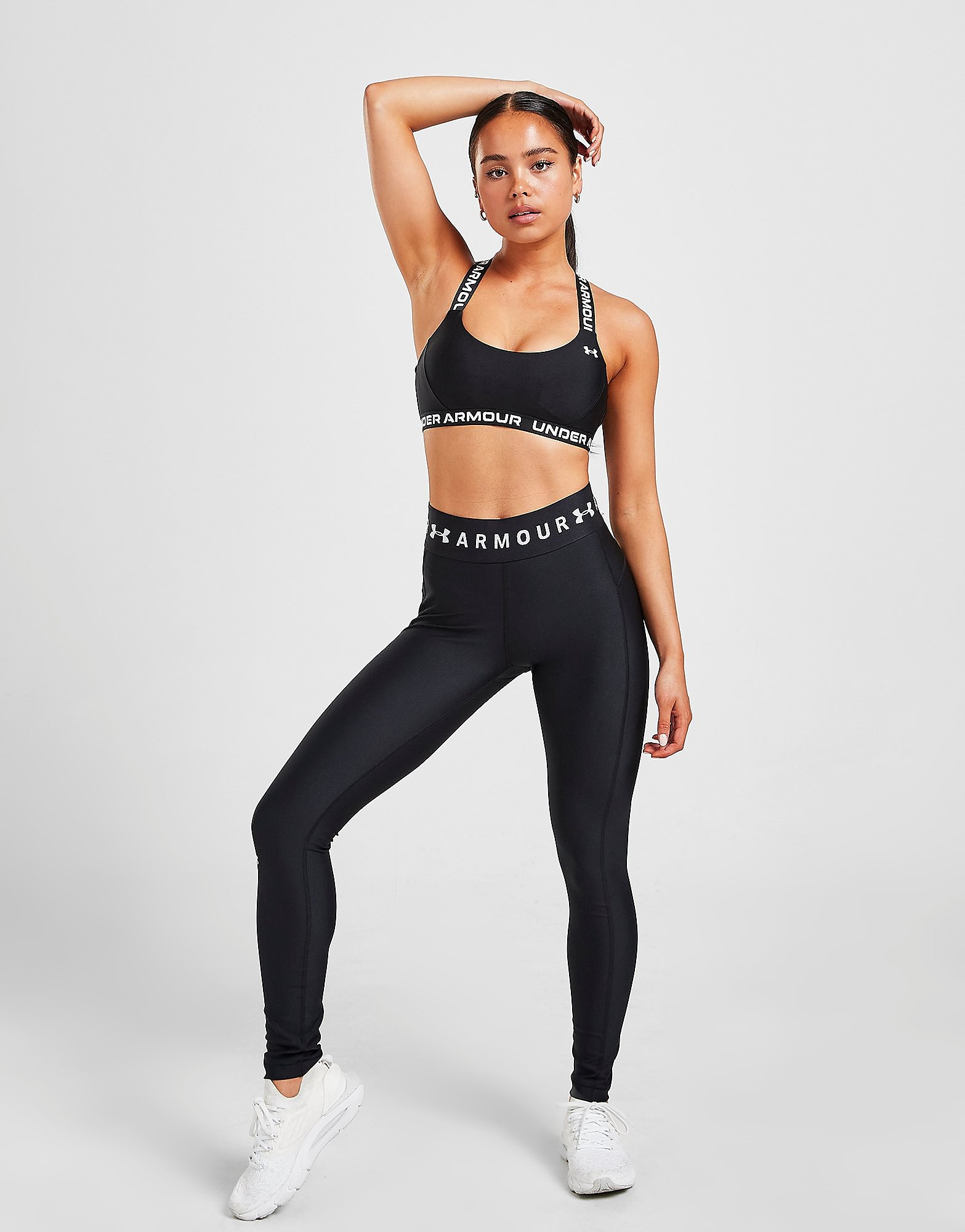 Under Armour Branded Waistband Leggings - Only at JD - Schwarz - Womens, Schwarz