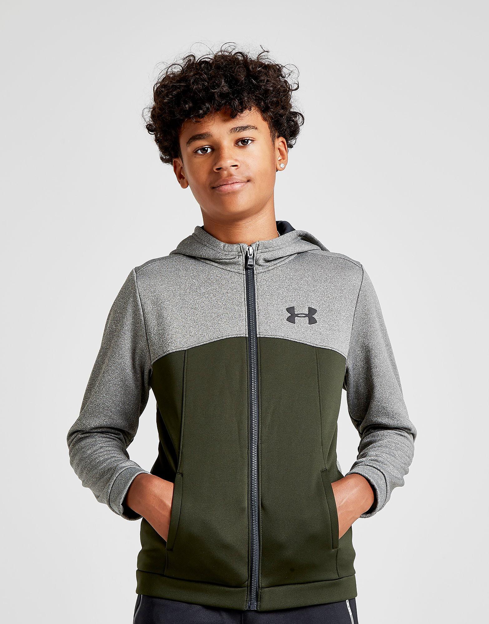 Under Armour Fleece Full Zip Poly Hoodie Junior - alleen bij JD - Groen - Kind