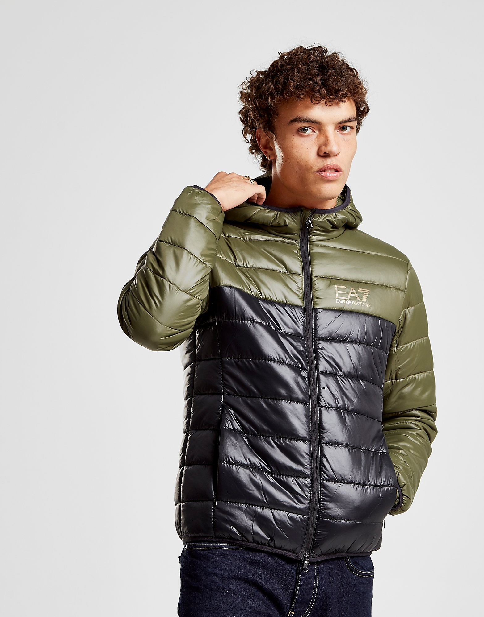 Emporio Armani EA7 Colour Block Bubble Jacket Heren - Groen - Heren