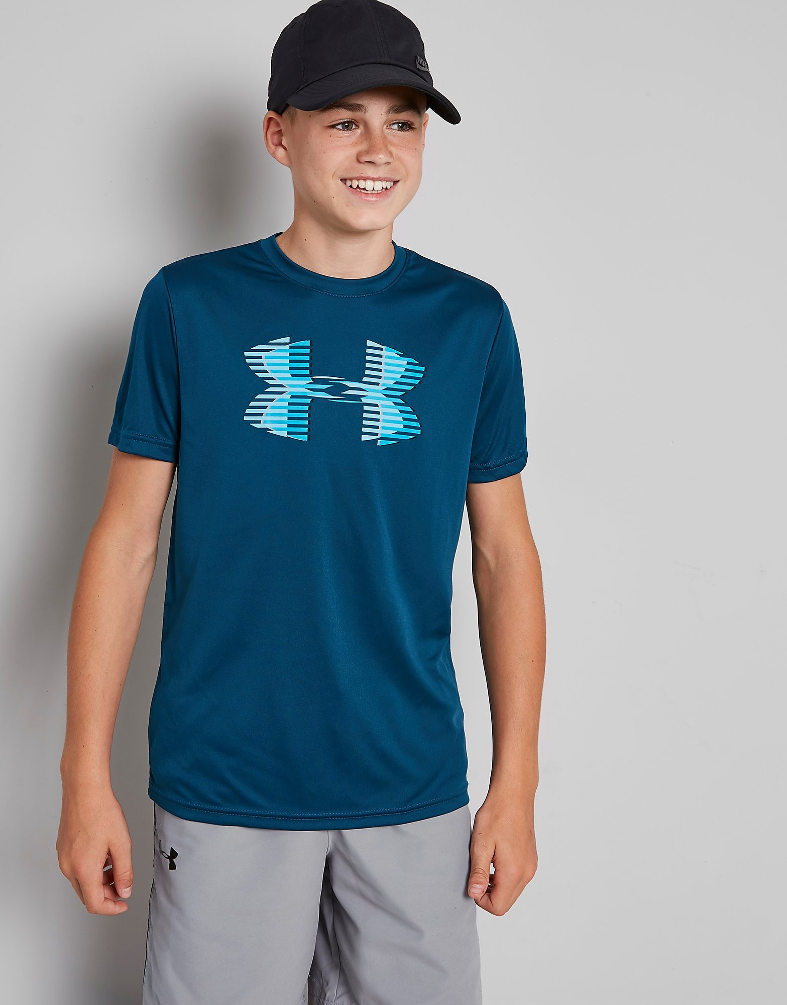 Under Armour Tech Logo T-Shirt Junior - Teal - Kind