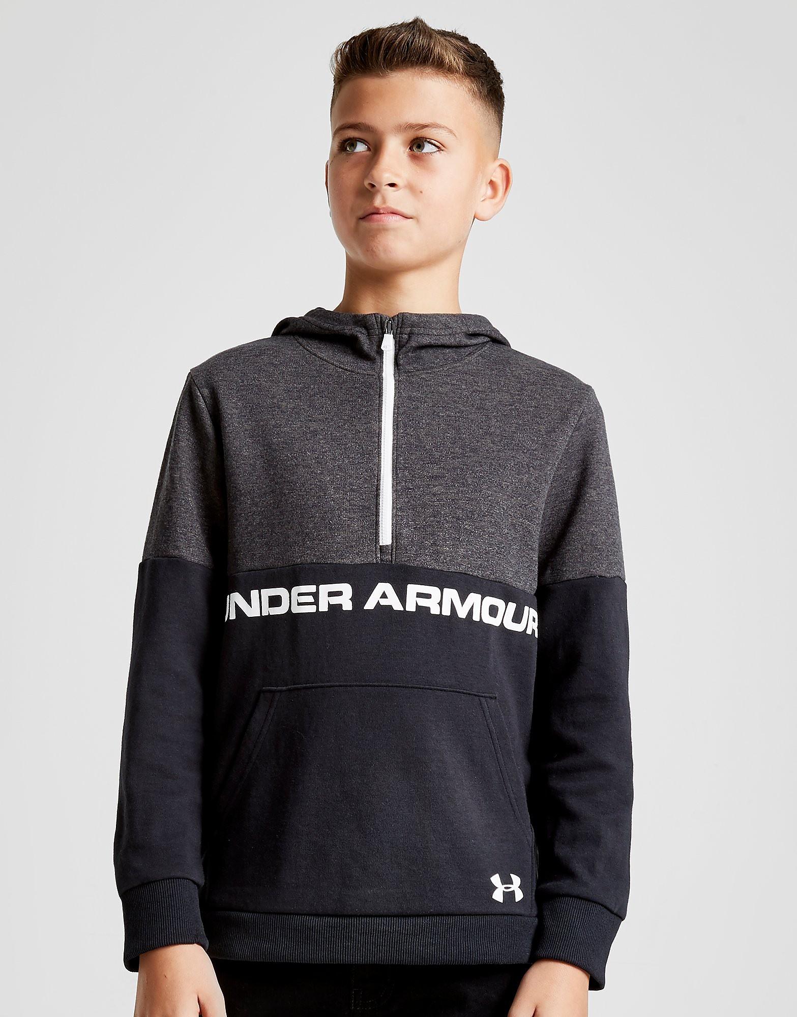 Under Armour Double Knit 1/2 Zip Hoodie Junior - Zwart - Kind