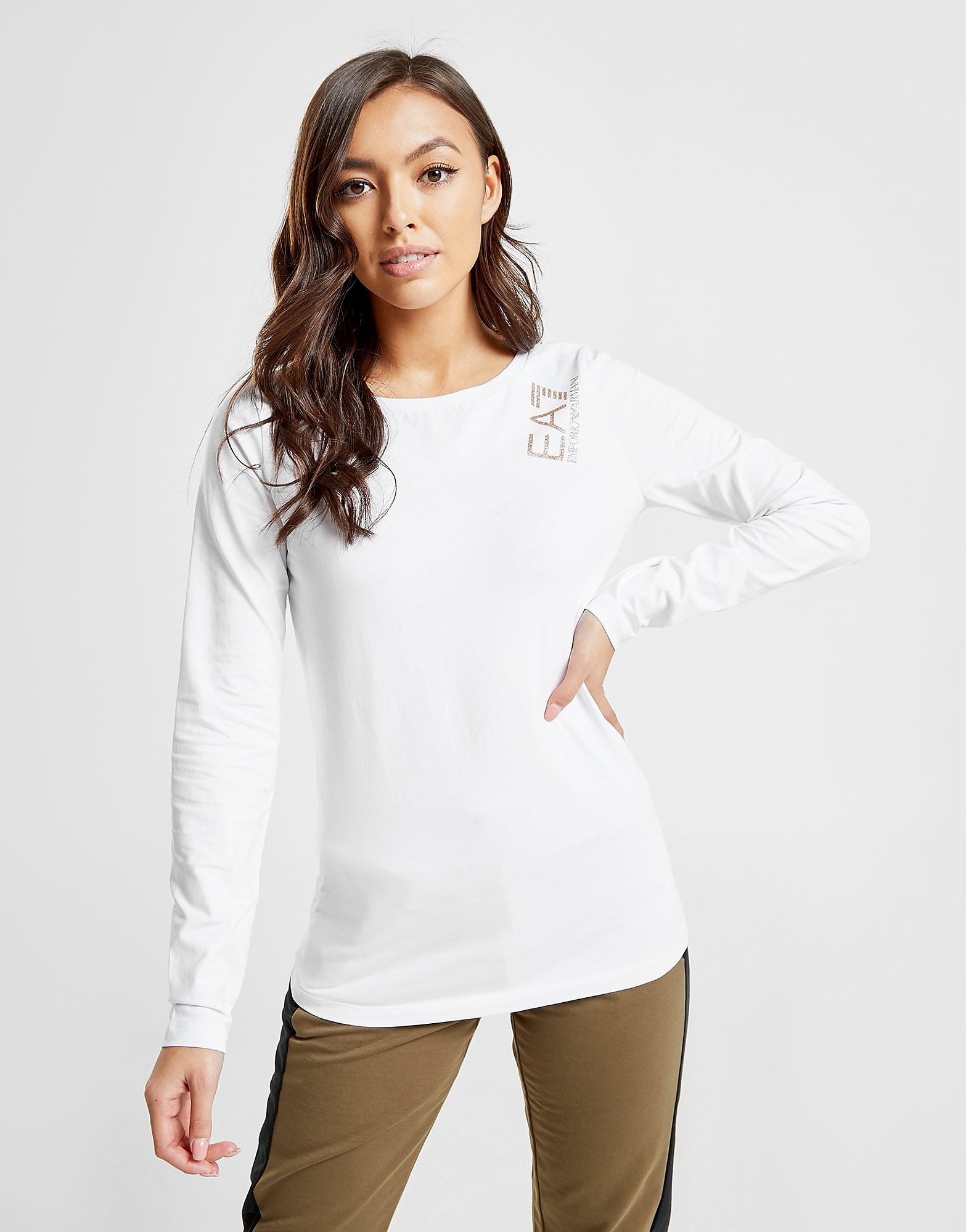 Emporio Armani EA7 Crew Long Sleeve T-Shirt - Wit - Dames