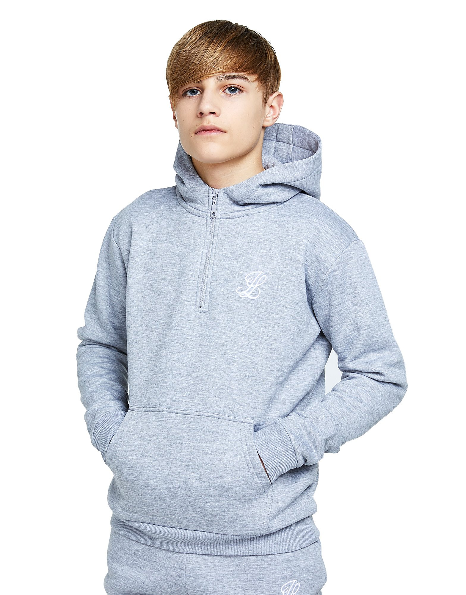 ILLUSIVE LONDON 1/2 Zip Fleece Hoodie Junior
