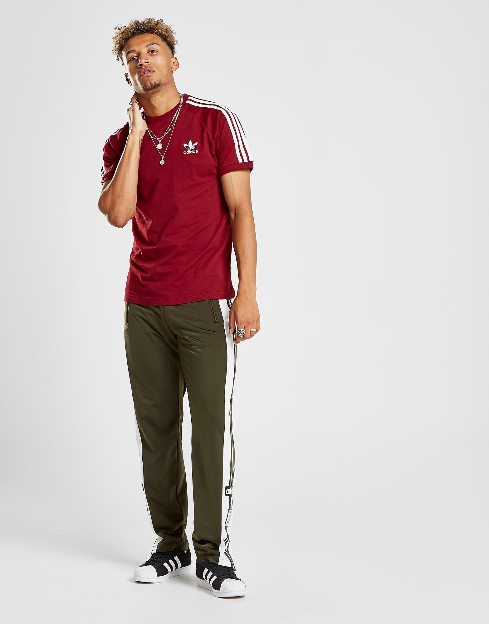 adidas Originals 3-Stripes California T-Shirt Heren - Rood - Heren