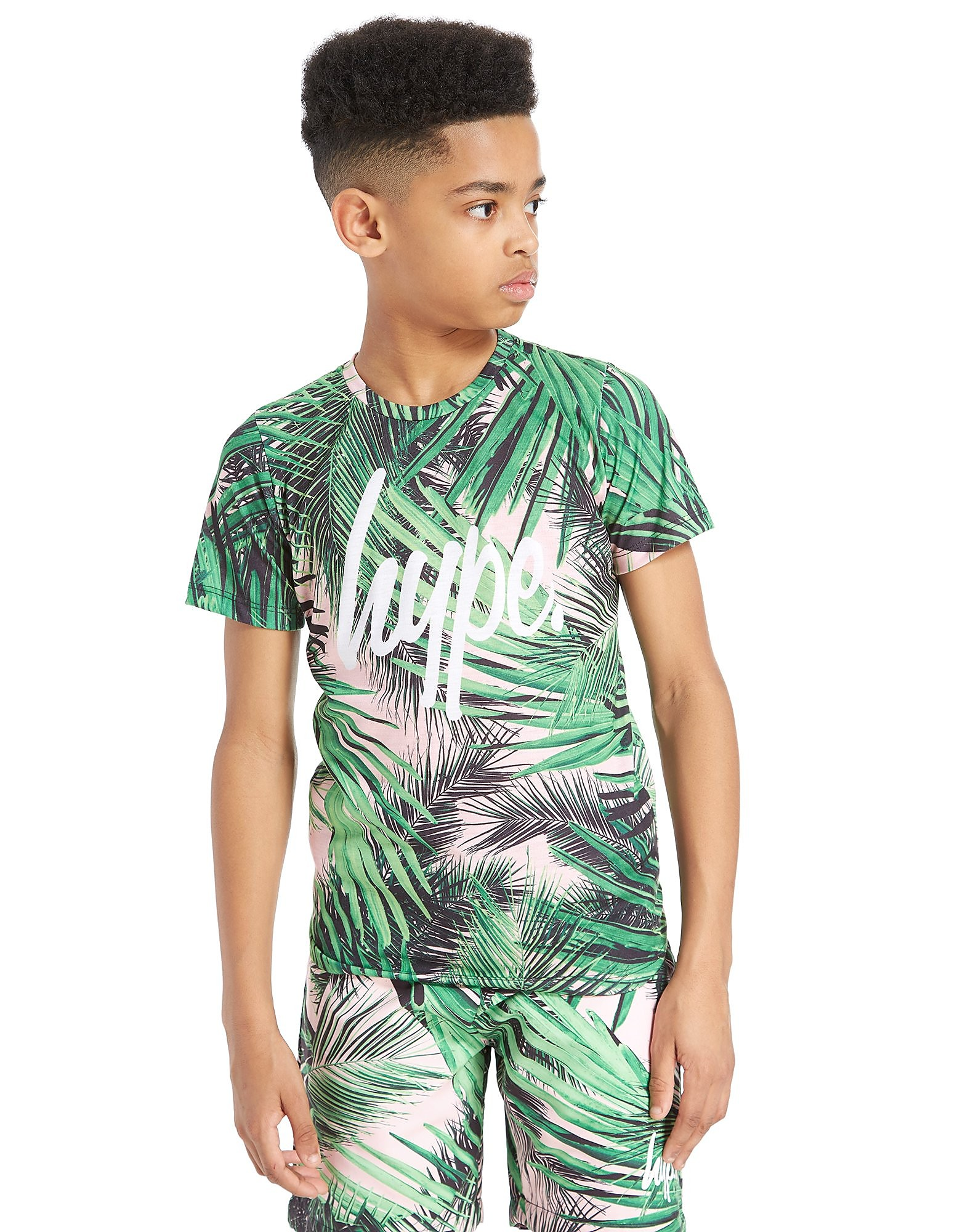 Hype Palm Print T-Shirt Junior