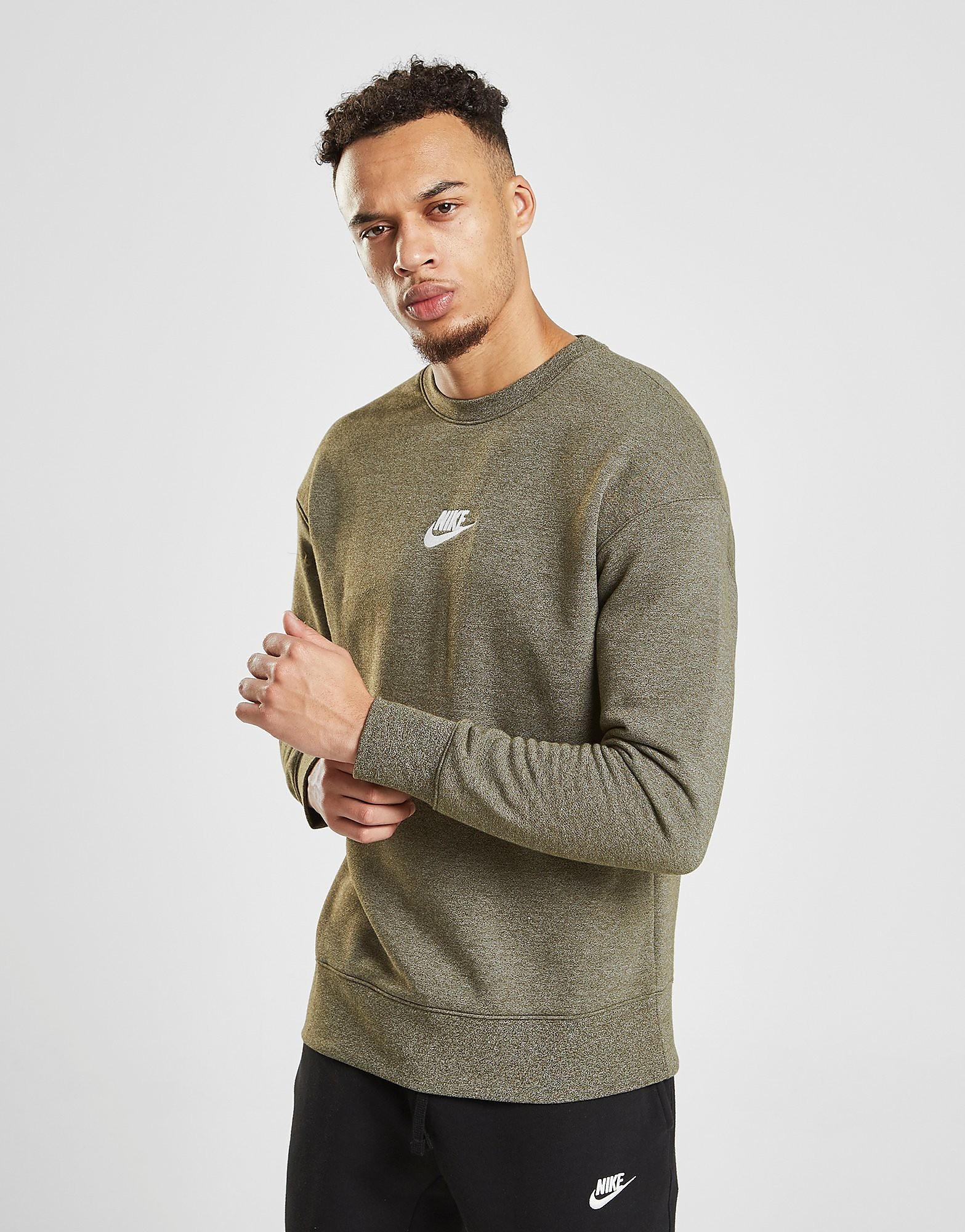 Nike Heritage Crew Sweatshirt Heren - Groen - Heren